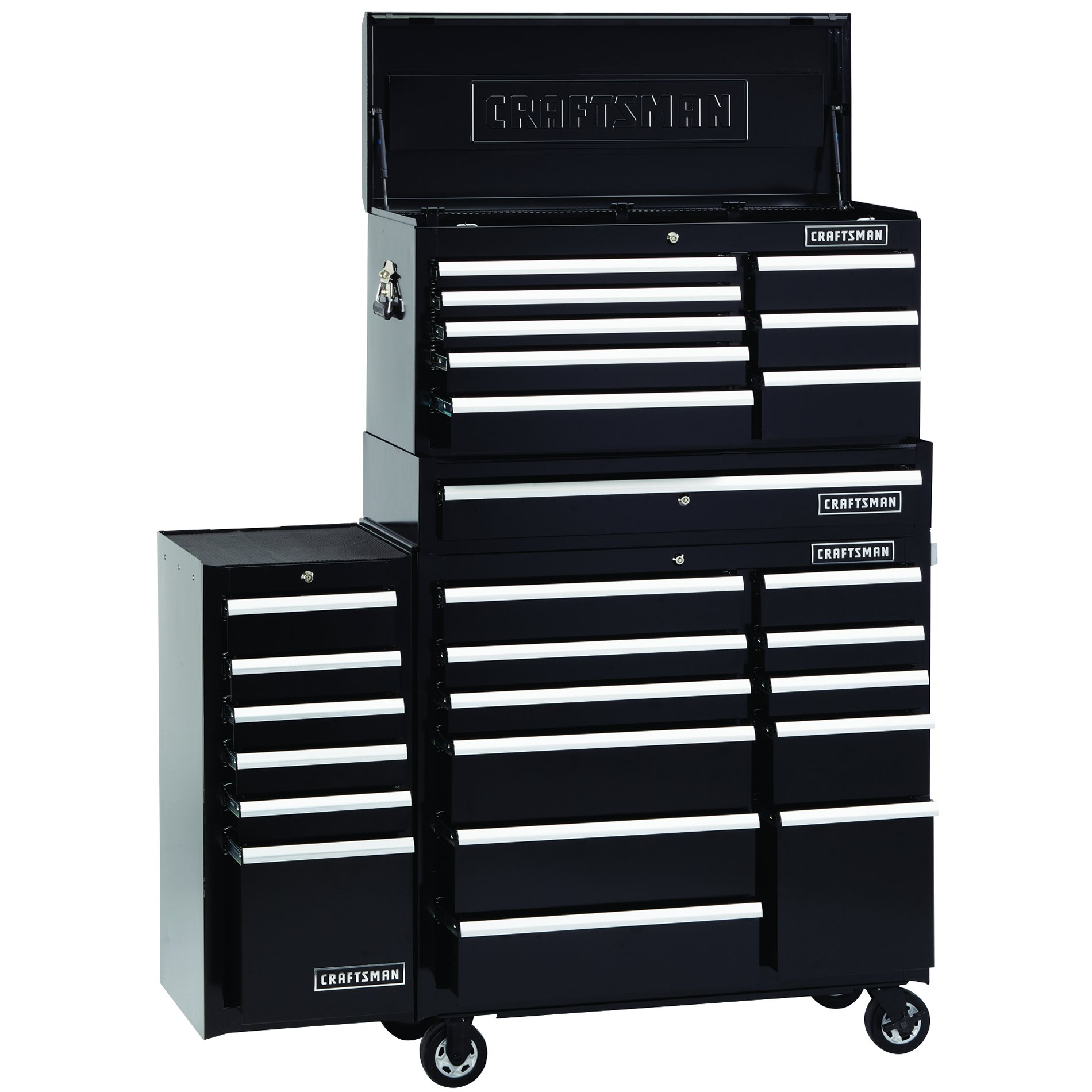Craftsman 8-Drawer 40-Inch Black Premium Heavy Duty Top Chest - Black
