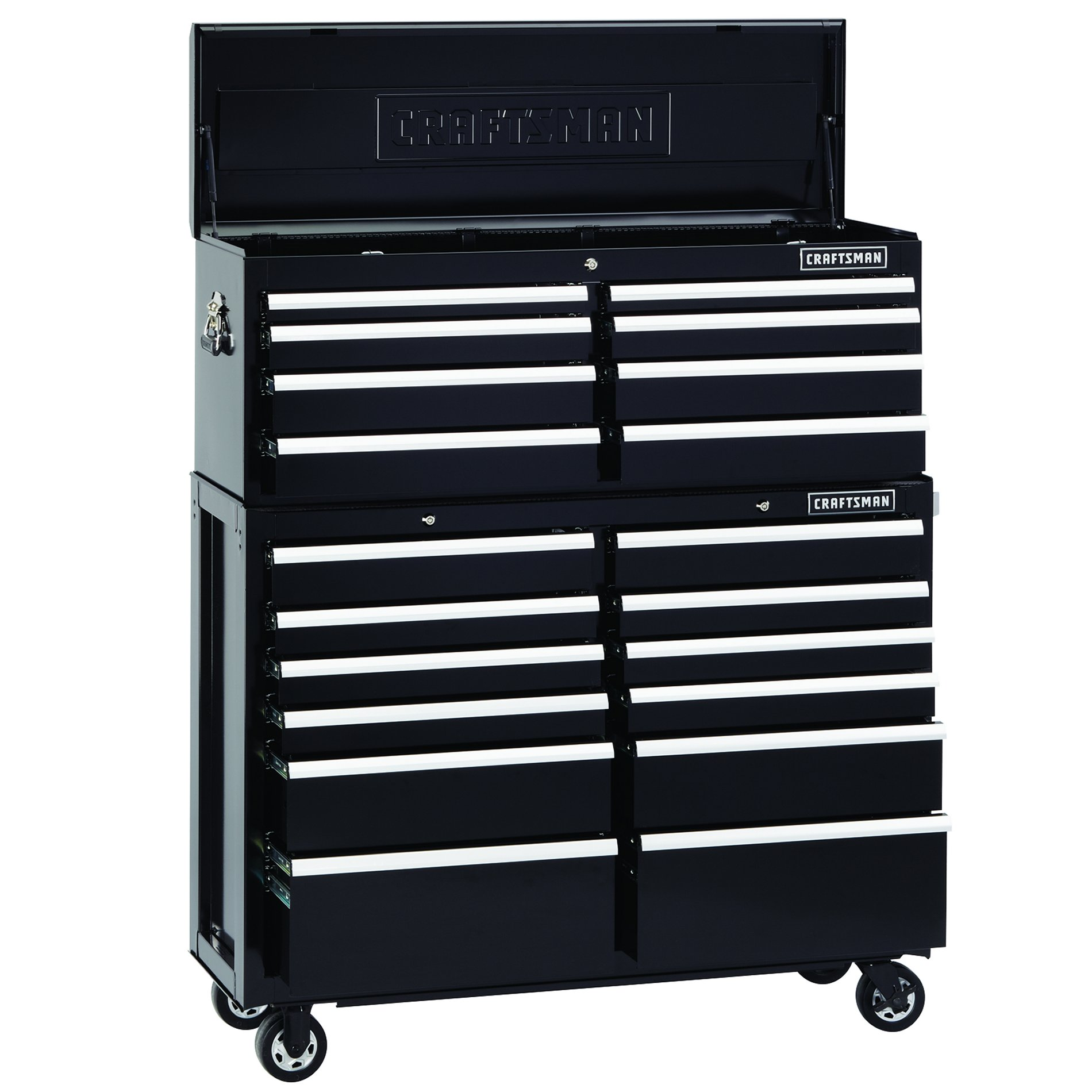 Craftsman 52-Inch 8-Drawer Premium Heavy-Duty Top Chest - Black