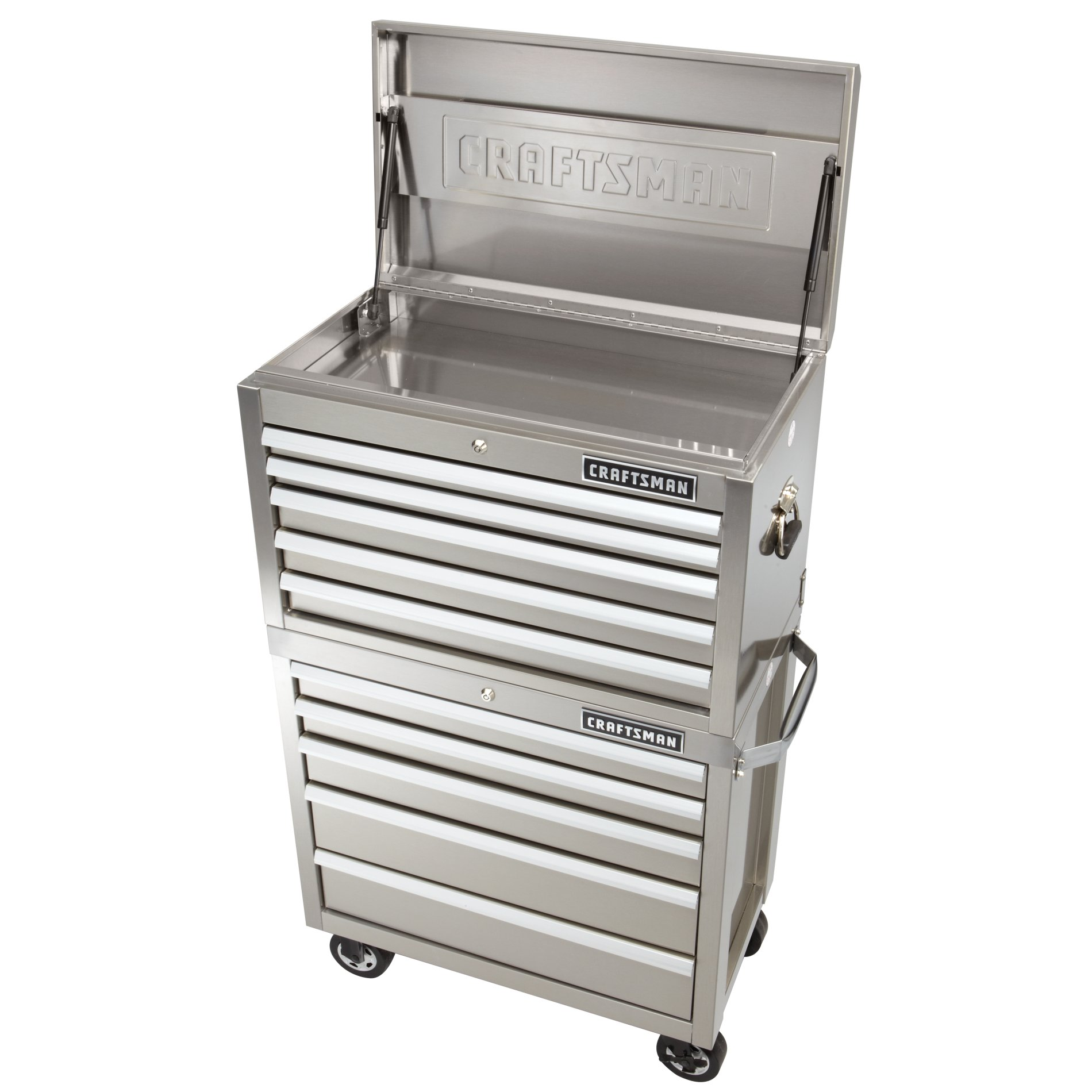 Craftsman 32-Inch 5-Drawer Premium Heavy-Duty Top Chest - Stainless Steel