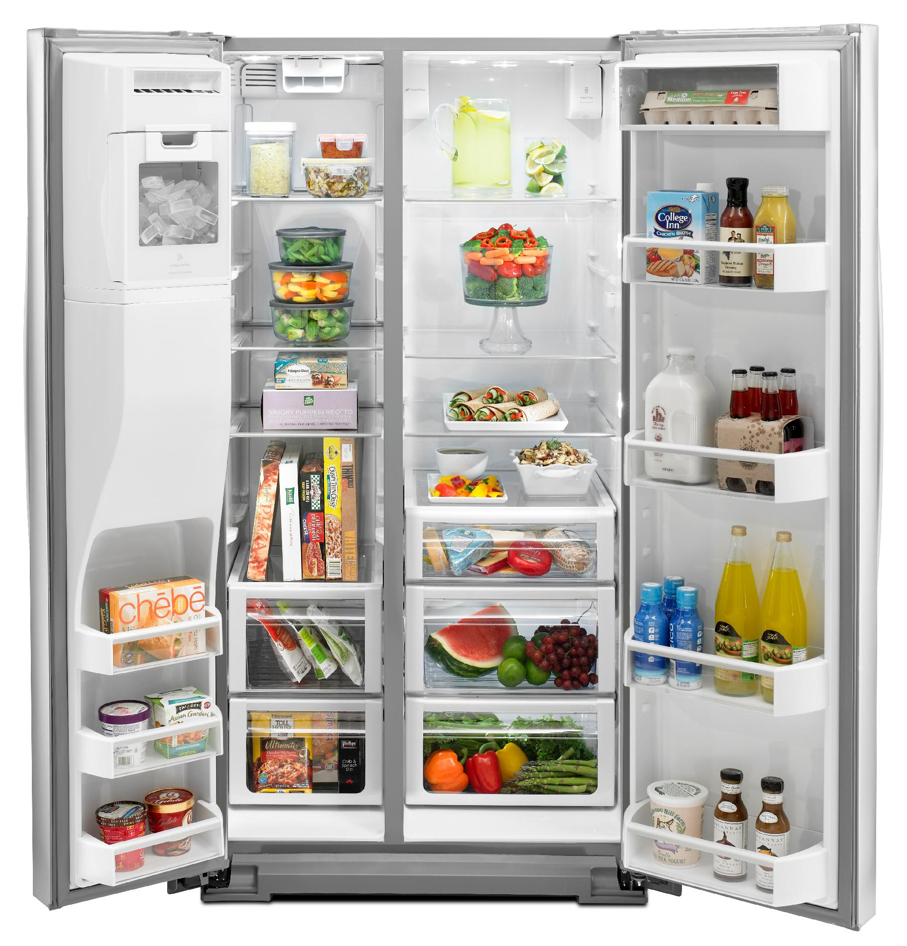 Whirlpool 29.7 cu. ft. Side-by-Side Refrigerator w/ MicroEdge® Shelves - Stainless Steel