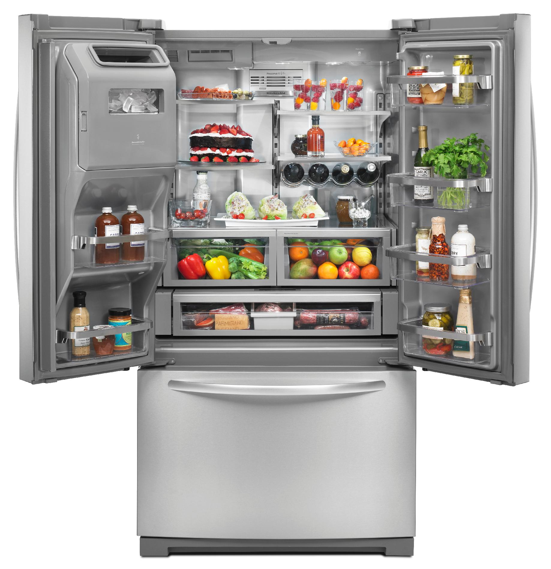 KitchenAid 26.8 cu. ft. French Door Refrigerator w/ Platinum Interior - Stainless Steel