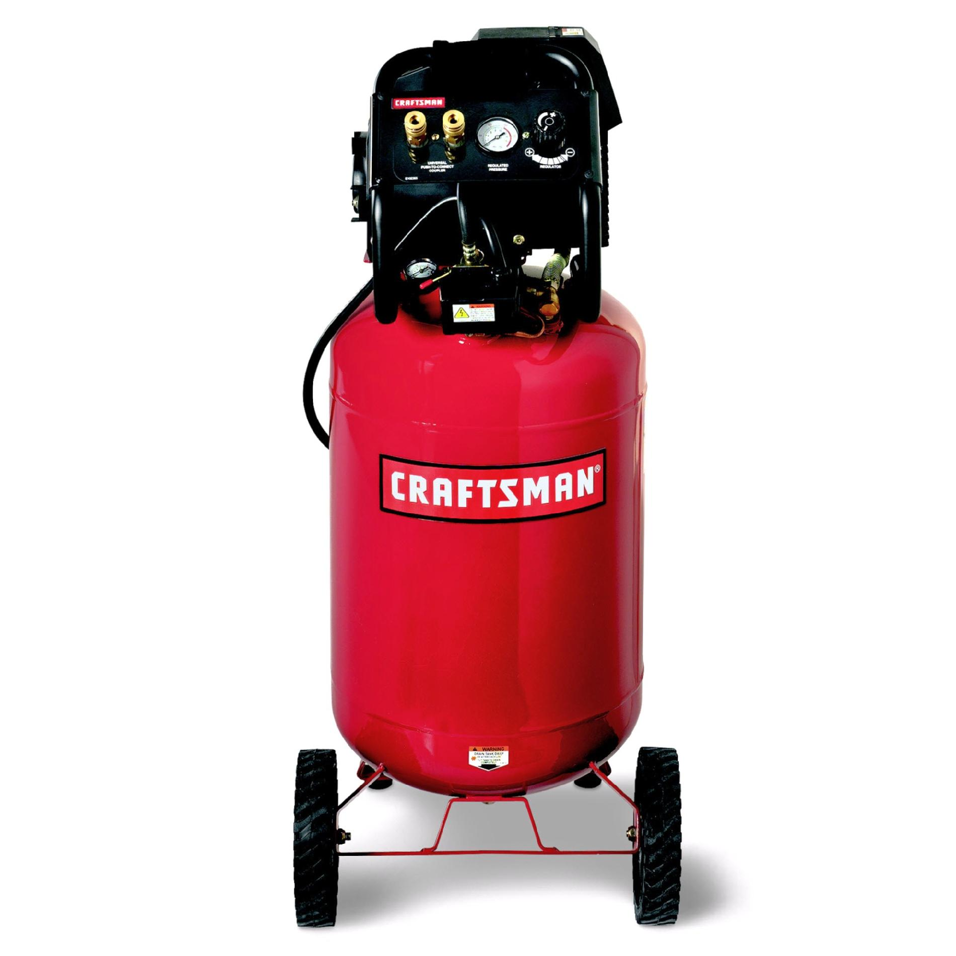 Craftsman 20 Gallon Portable Vertical Air Compressor with Hose and 9PC Accessory Kit