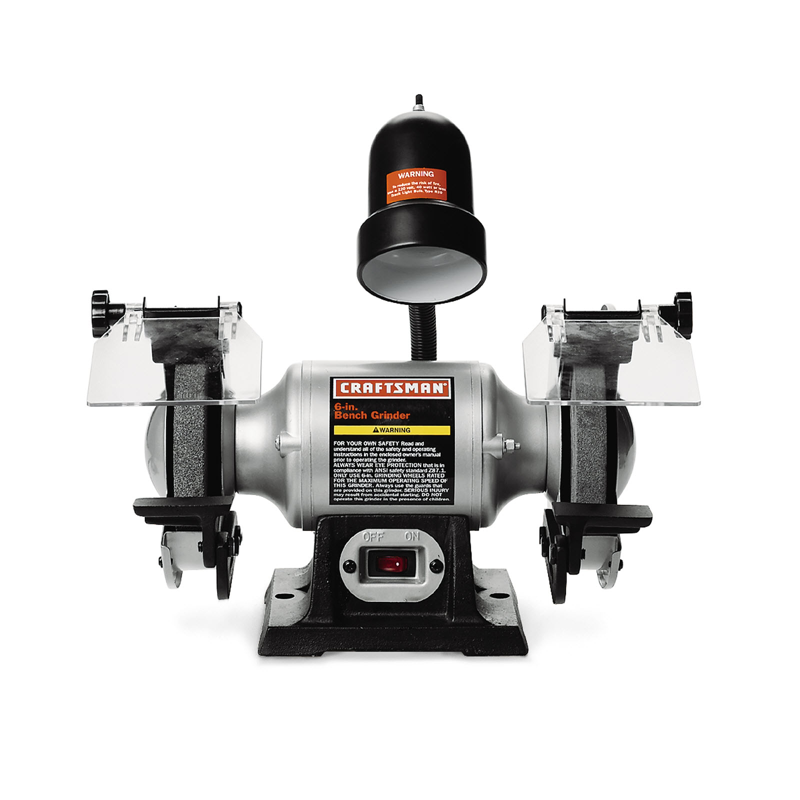 """Craftsman 1/6 hp 6"""" Bench Grinder with Lamp (21124)"""