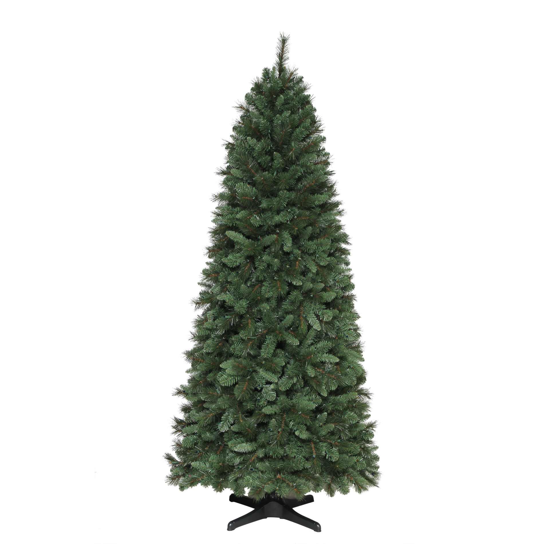 Donner and Blitzen 7.5 Ft Pre-Lit Clear Light Aspen Slim Pine Artificial Christmas Tree