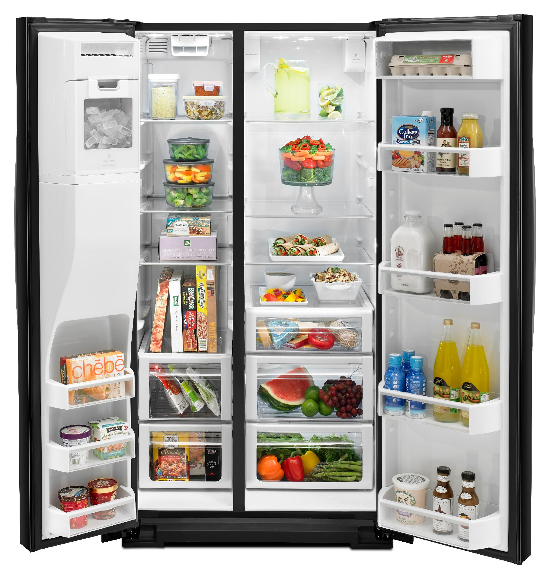Whirlpool 29.7 cu. ft. Side-by-Side Refrigerator w/ MicroEdge® Shelves - Black