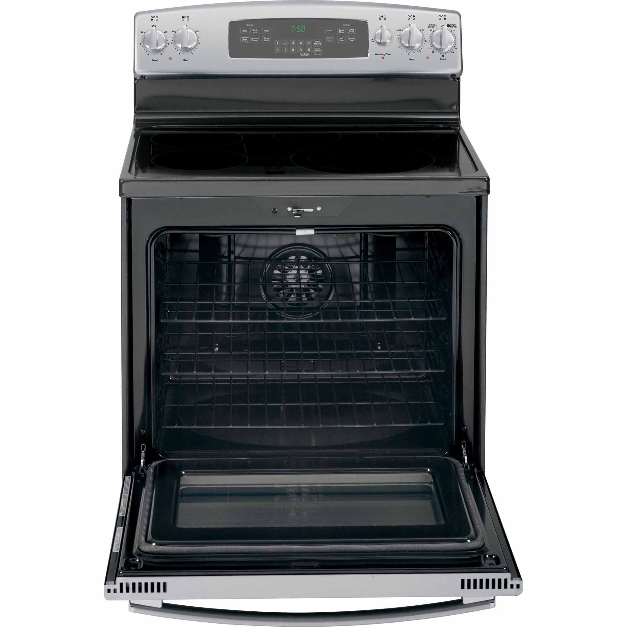 GE 5.3 cu. ft. Electric Range w/ True Convection - Stainless Steel