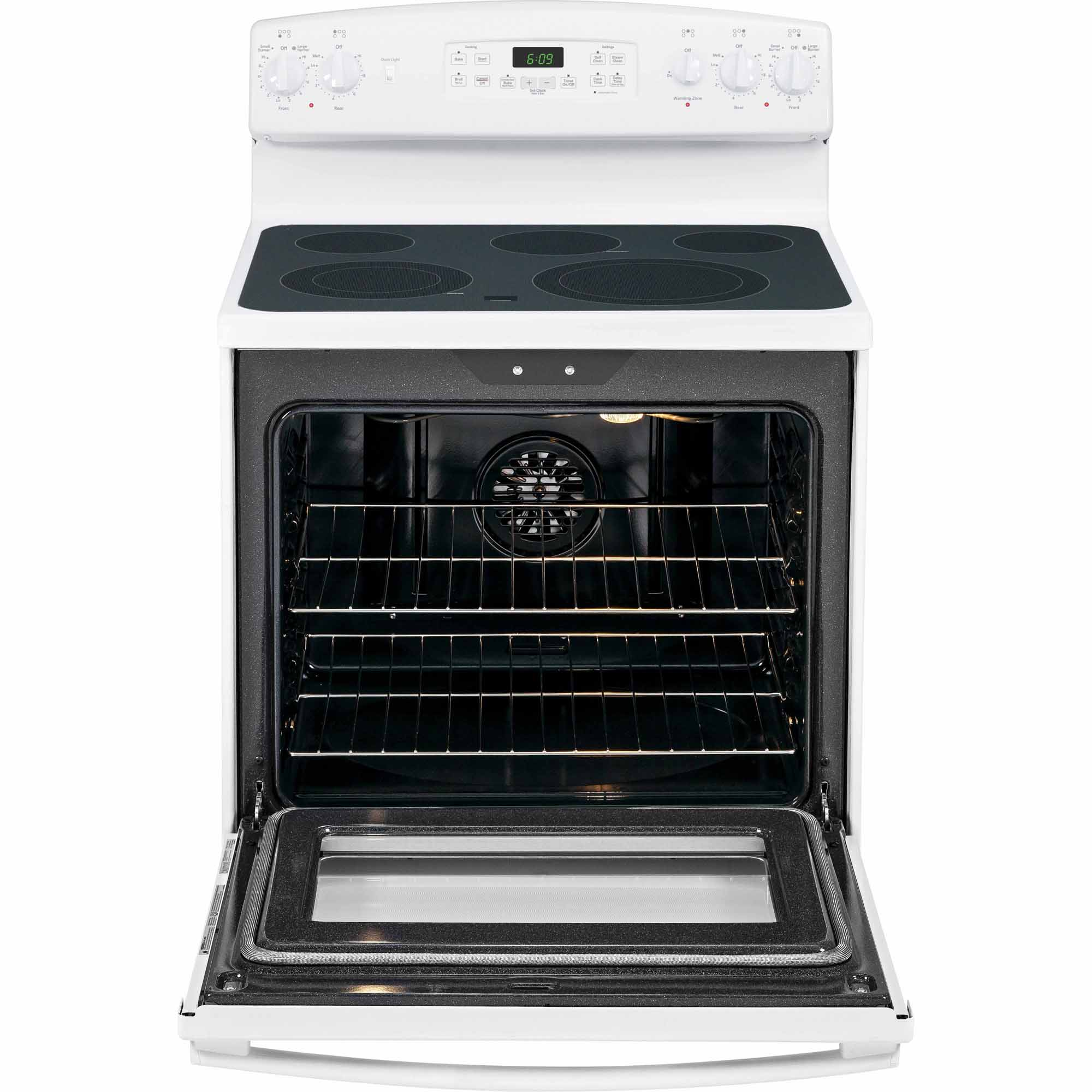 GE 5.3 cu. ft. Electric Range w/ Convection Oven - White