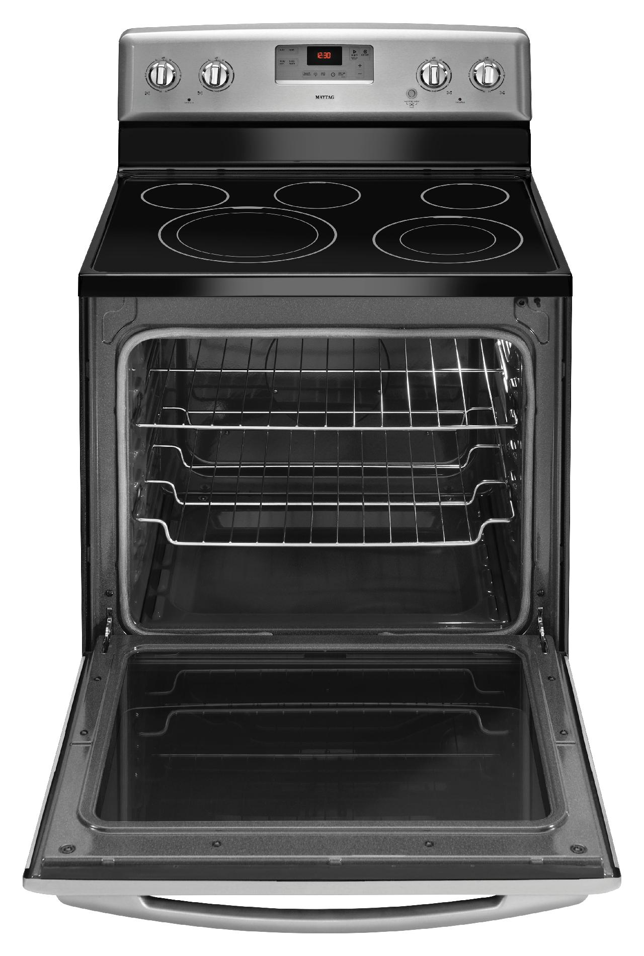 Maytag 6.2 cu. ft. Electric Range w/ Aqua-Lift® Technology - Stainless Steel