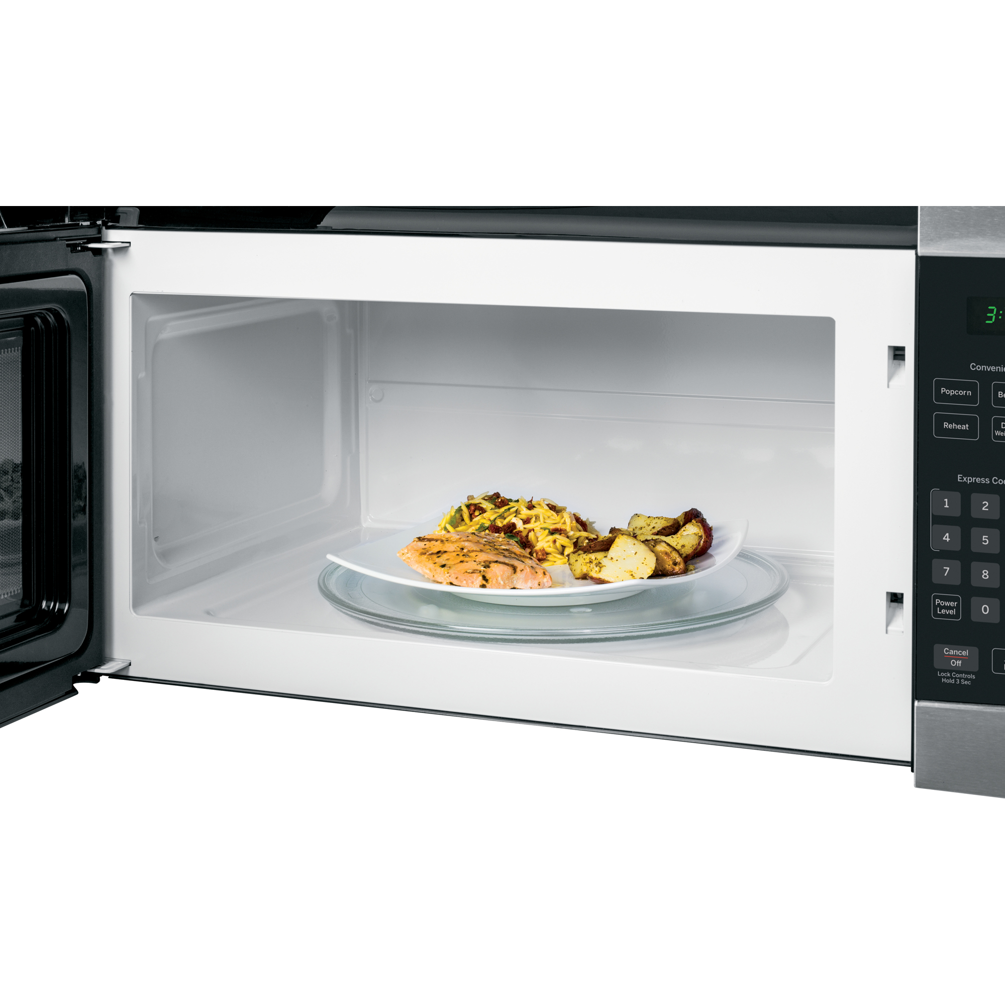 GE Appliances JVM3160RFSS 1.6 cu. ft. Over-the-Range Microwave Oven - Stainless Steel