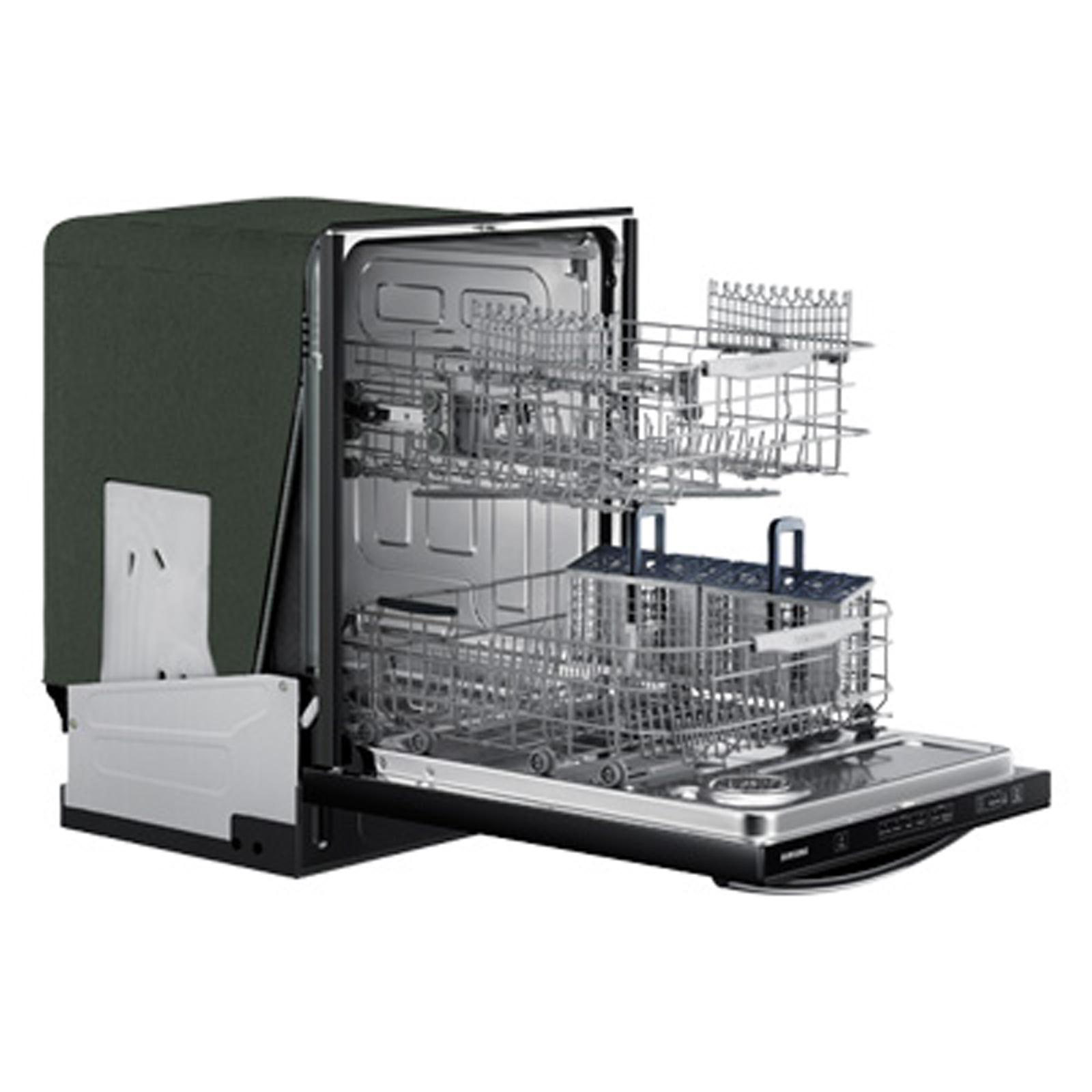 "Samsung 24"" Built-In Dishwasher w/ Stainless Steel Tub - Black"