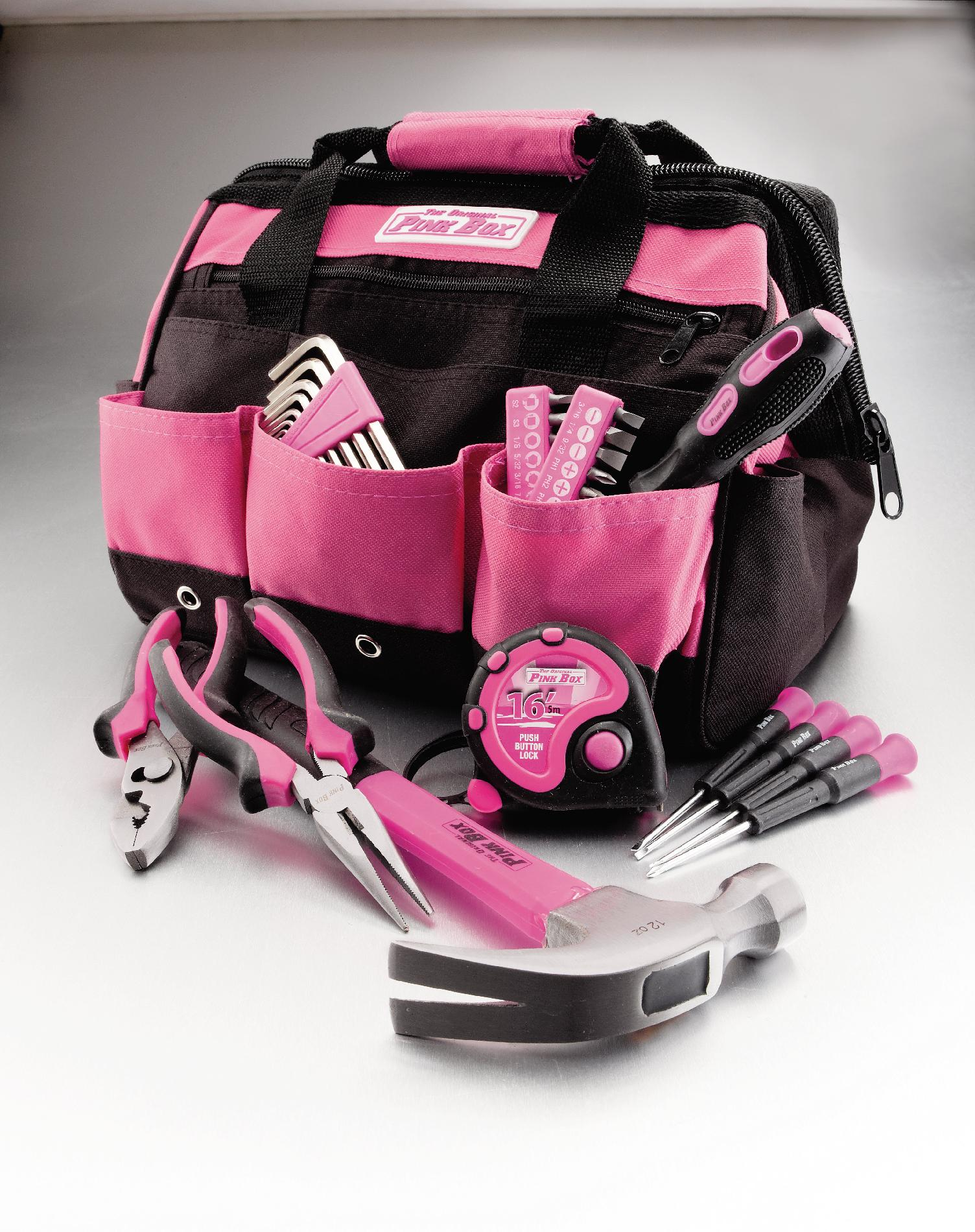 The Original Pink Box PINK Multi-Puurpose Pink Tools Set
