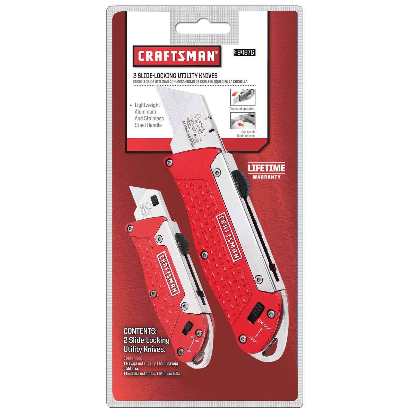 Craftsman Aluminum Slide Locking Utility Knife Set