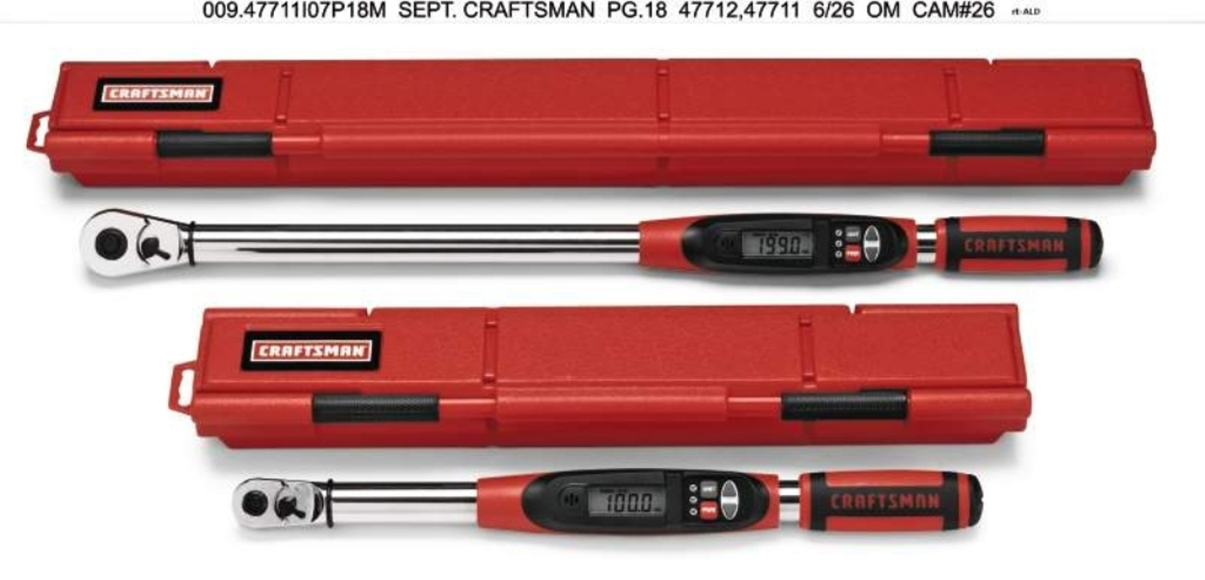 Craftsman Electronic Torque Wrench, 3/8 in. Drive
