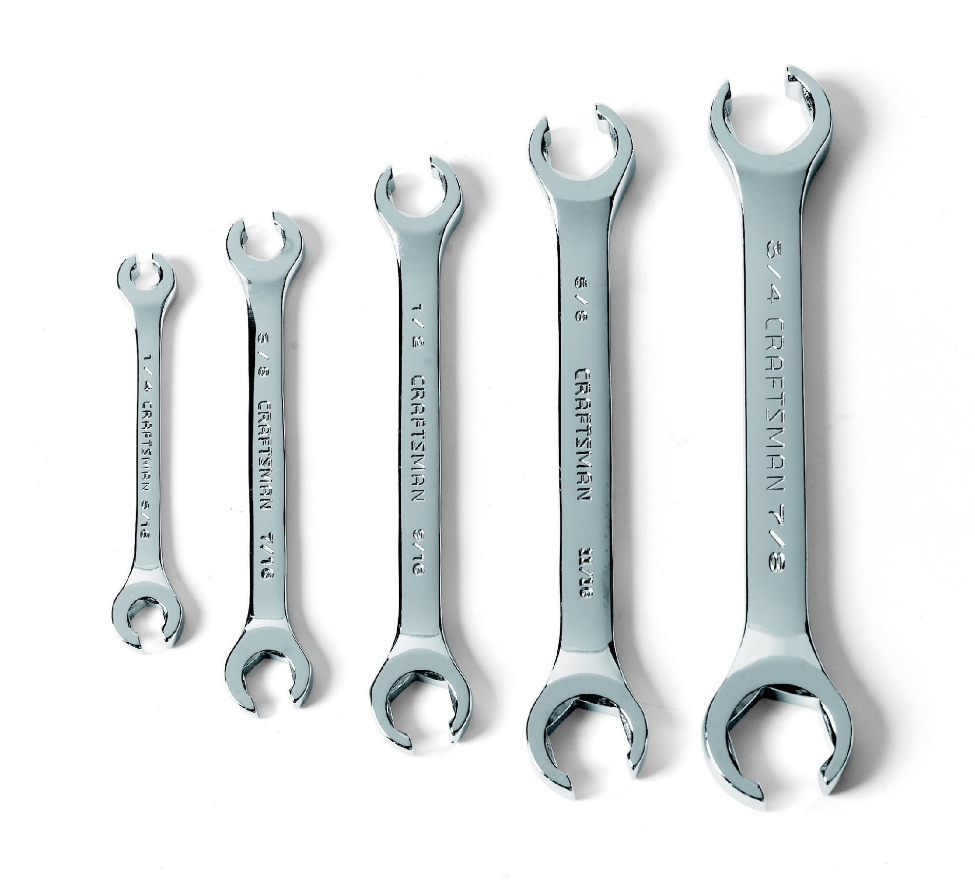 Craftsman 5 pc. Flare Nut Wrench Set Standard SAE