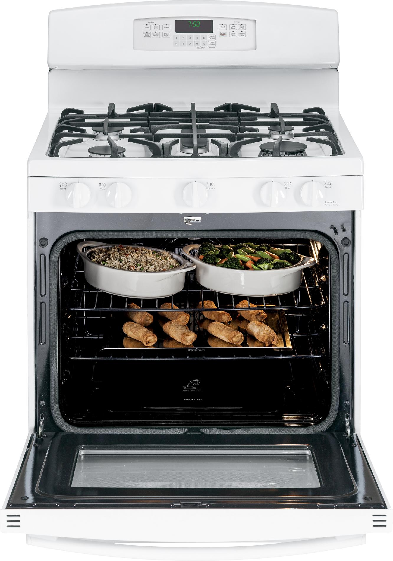 GE Appliances 5.6 cu. ft. Gas Range w/ Convection - White