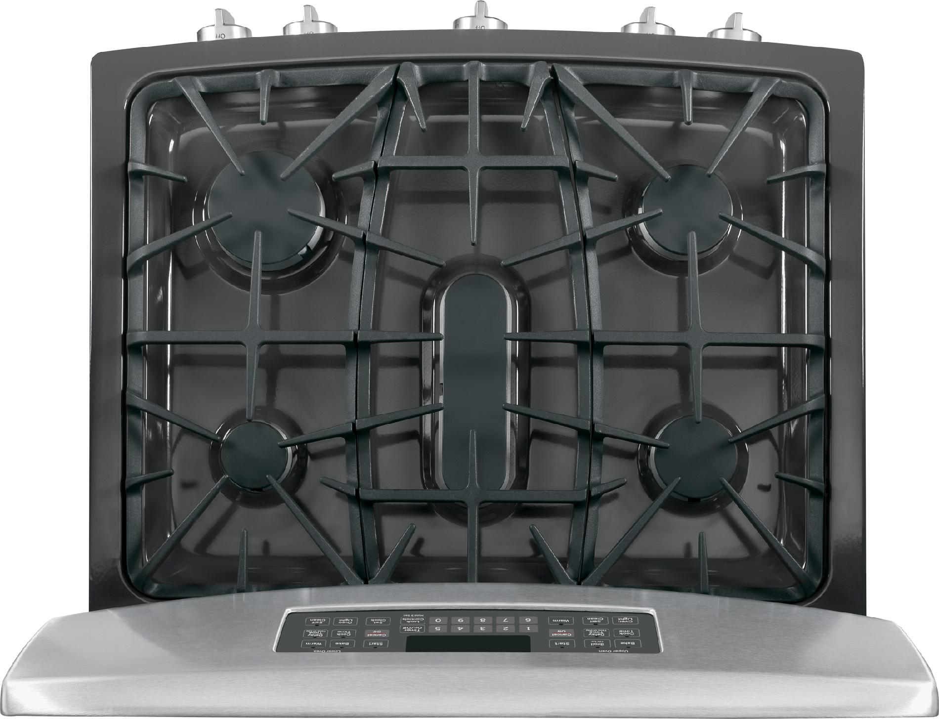 GE Appliances 6.8 cu. ft. Gas Range w/ Double Oven - Stainless