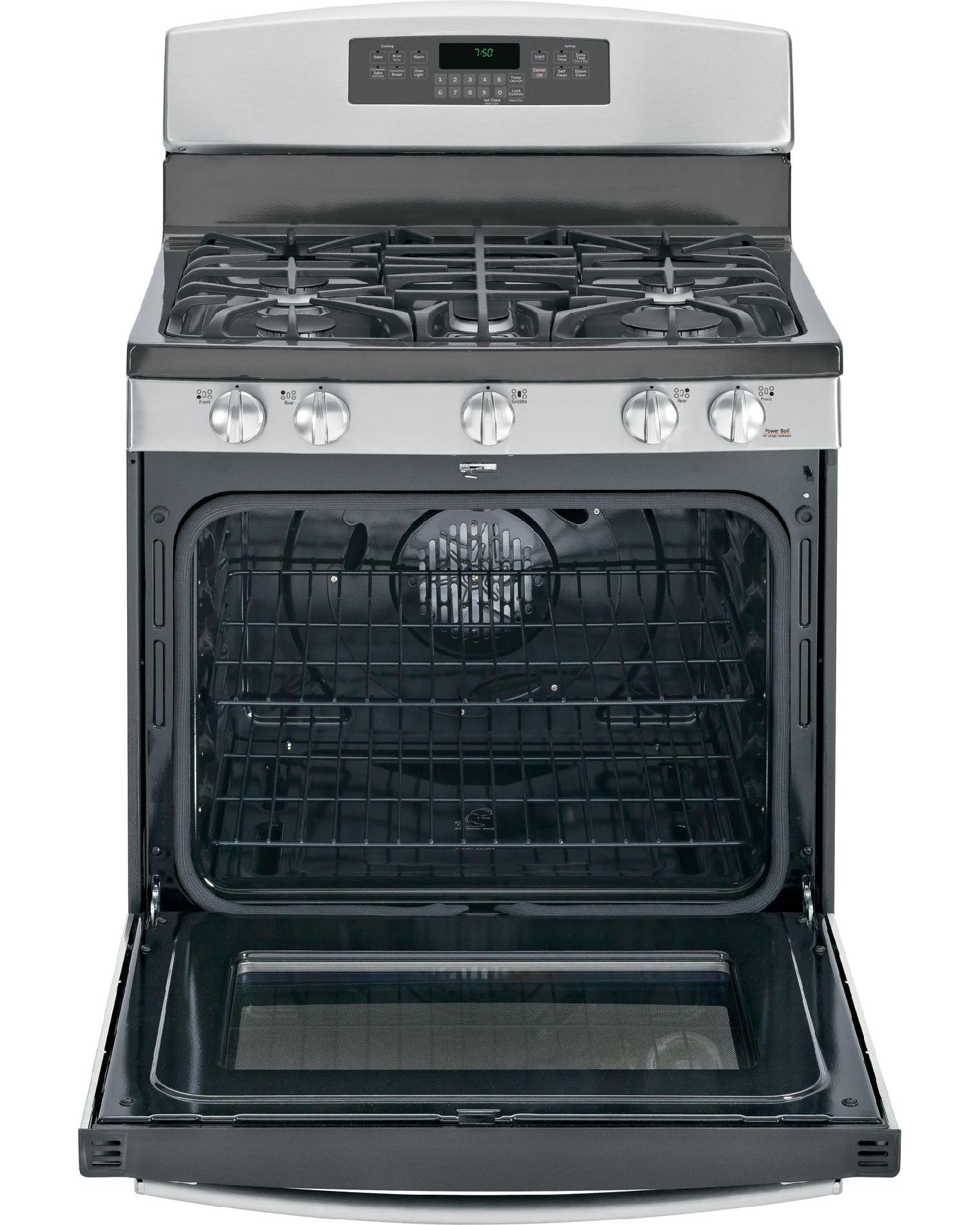 GE 5.6 cu. ft. Gas Range w/ Convection - Stainless Steel