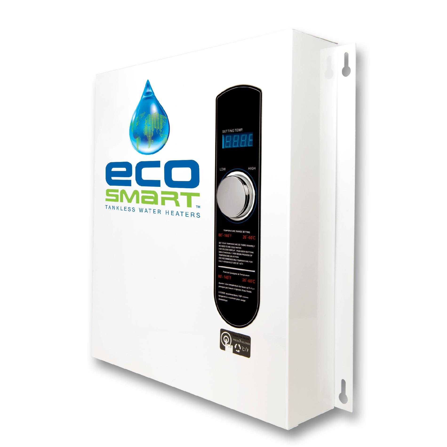 EcoSmart Self Modulating ECO 27 Tankless Water Heater with Patented Self Modulating Technology