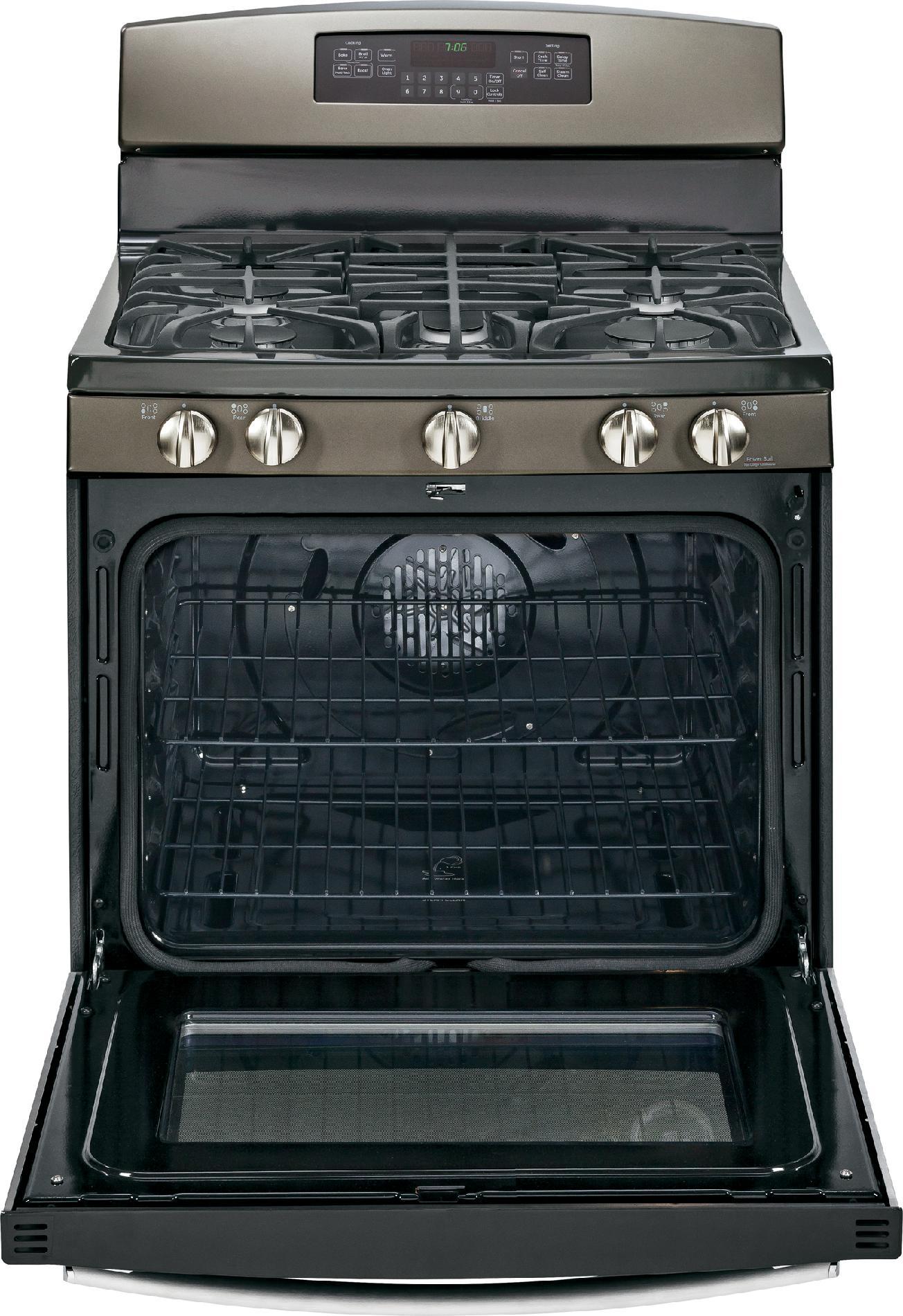 GE Appliances 5.6 cu. ft. Gas Range w/ Convection - Slate