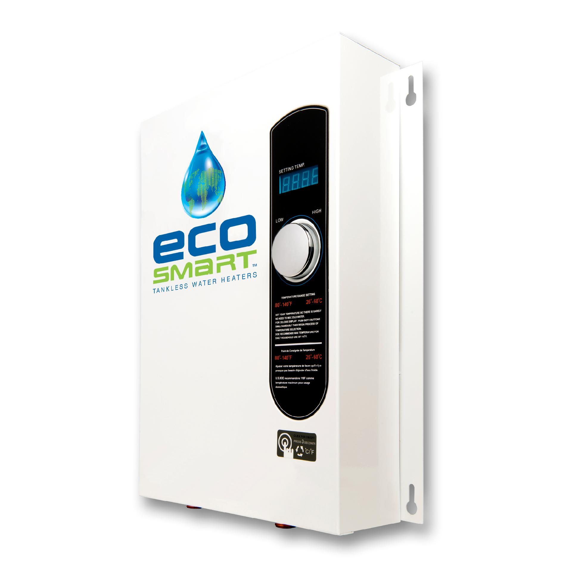 EcoSmart Self Modulating ECO 18 Tankless Water Heater with Patented Self Modulating Technology