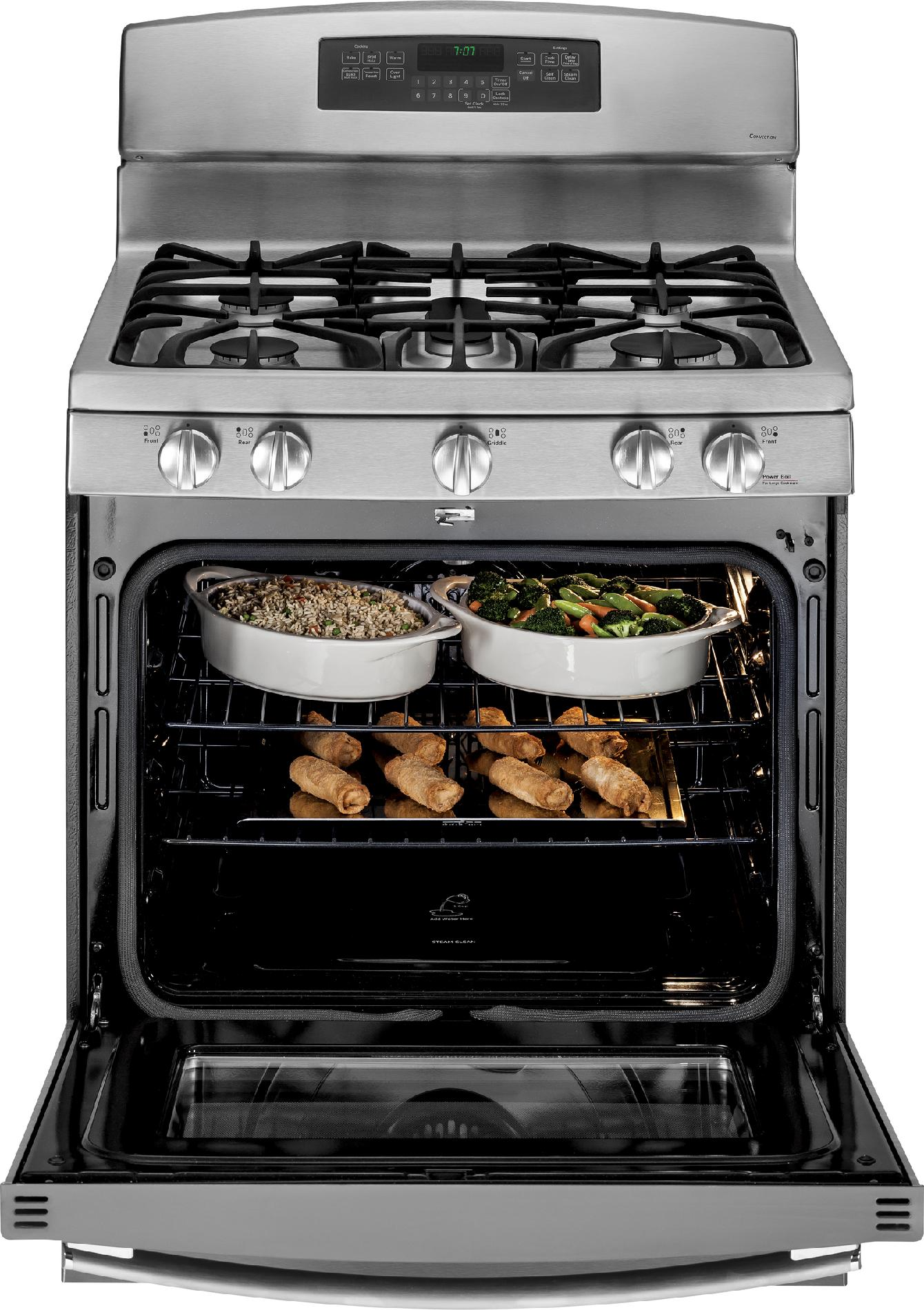 GE Appliances 5.6 cu. ft. Gas Range w/ Convection - Stainless Steel