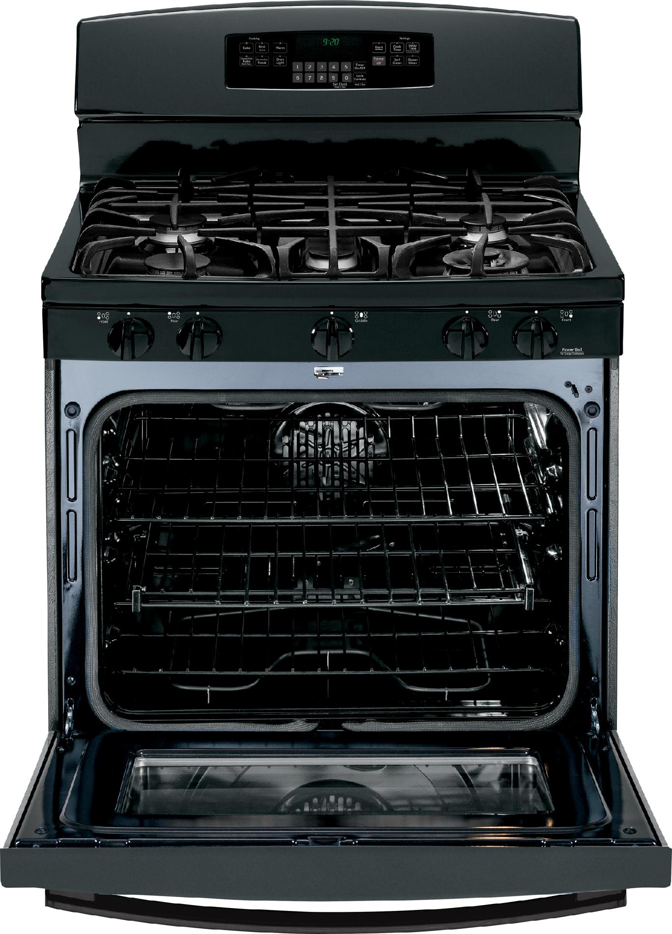 GE Profile 5.6 cu. ft. Gas Range w/ Convection - Black