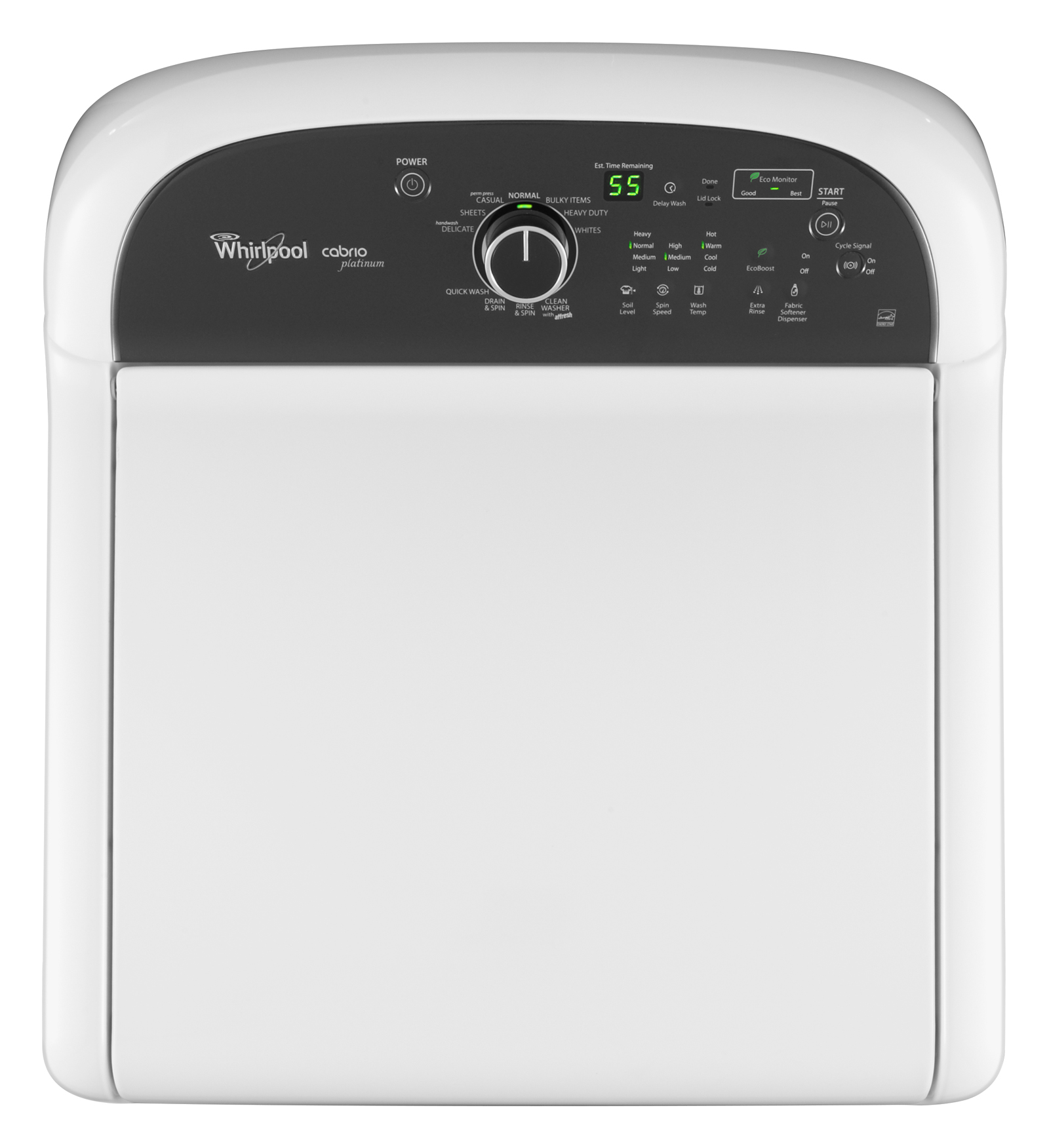 Whirlpool 4.5 cu. ft. Cabrio® Platinum HE Top-Load Washer w/ Precision Dispense Plus - White
