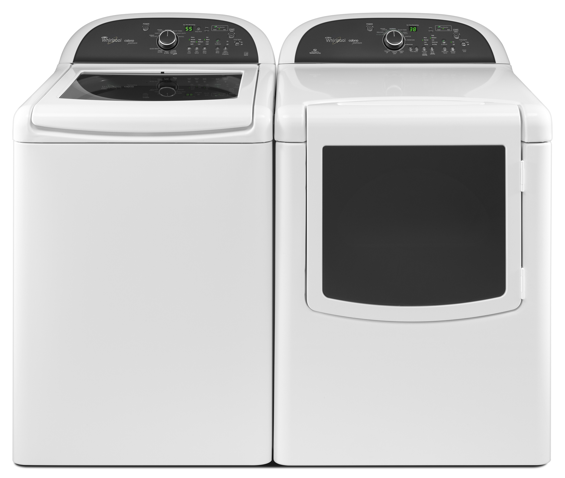 Whirlpool 4.5 cu. ft. Cabrio® Platinum HE Top-Load Washer w/ EasyView™ Framed Glass Lid - White