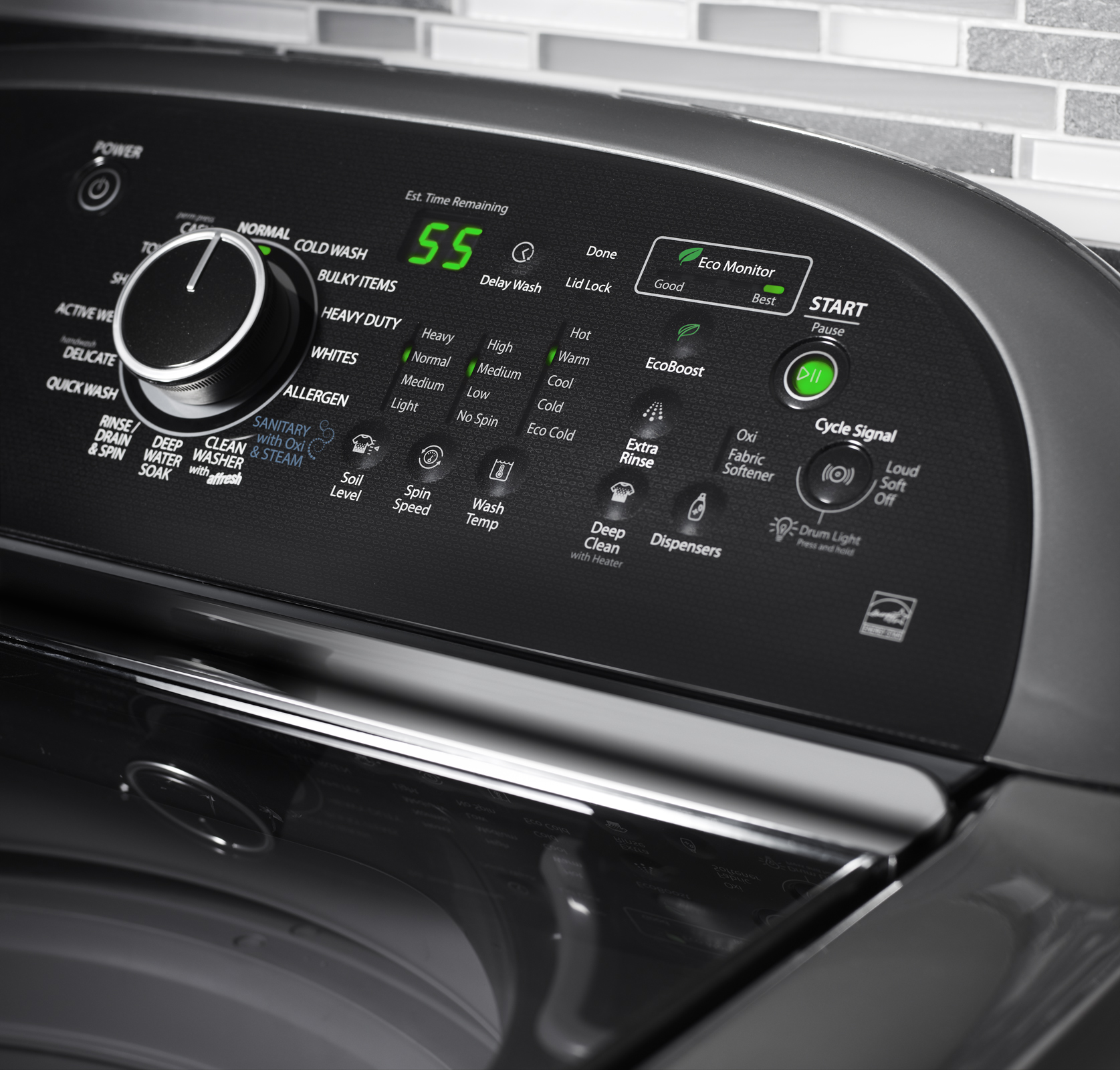 Whirlpool 4.8 cu. ft. Cabrio® Platinum HE Top-Load Washer w/ Greater Capacity - Chrome Shadow