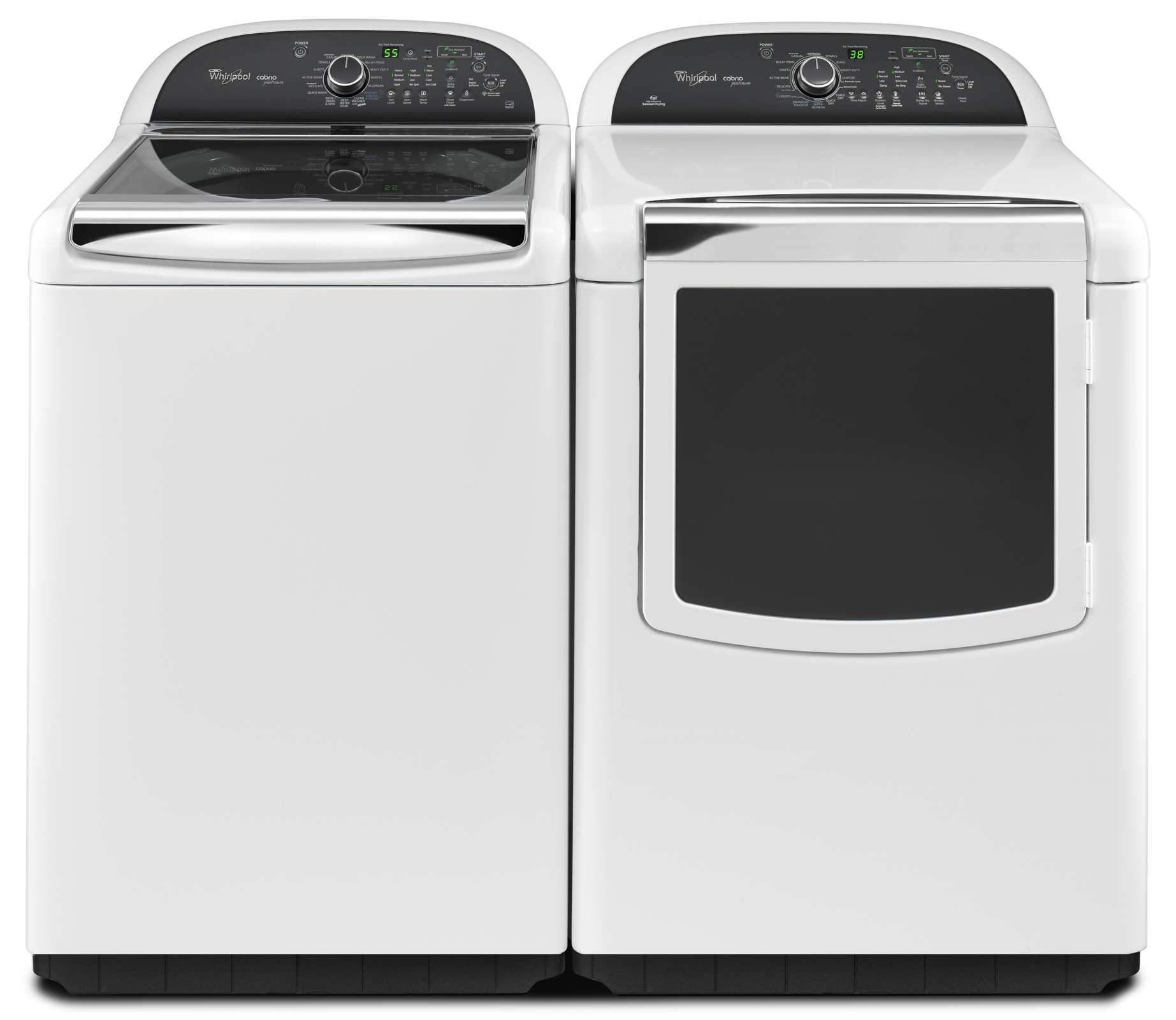 Whirlpool 4.8 cu. ft. Cabrio® Platinum HE Top-Load Washer w/ Sanitary Cycle - White