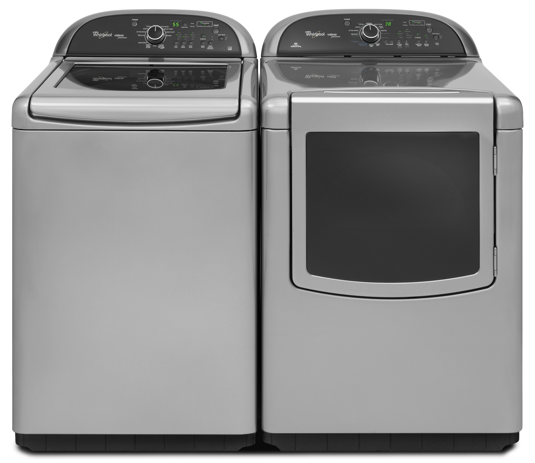Whirlpool 7.6 cu. ft. Cabrio® Platinum Electric Dryer w/ Enhanced Touch-Up Steam Cycle - Chrome Shadow
