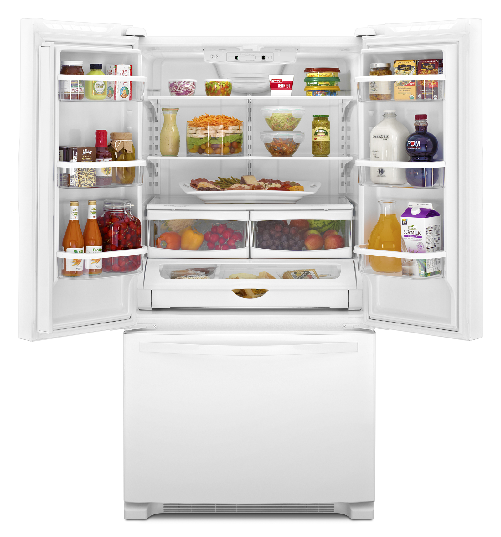 Whirlpool WRF535SMBW 25 cu. ft. French Door Refrigerator  - White