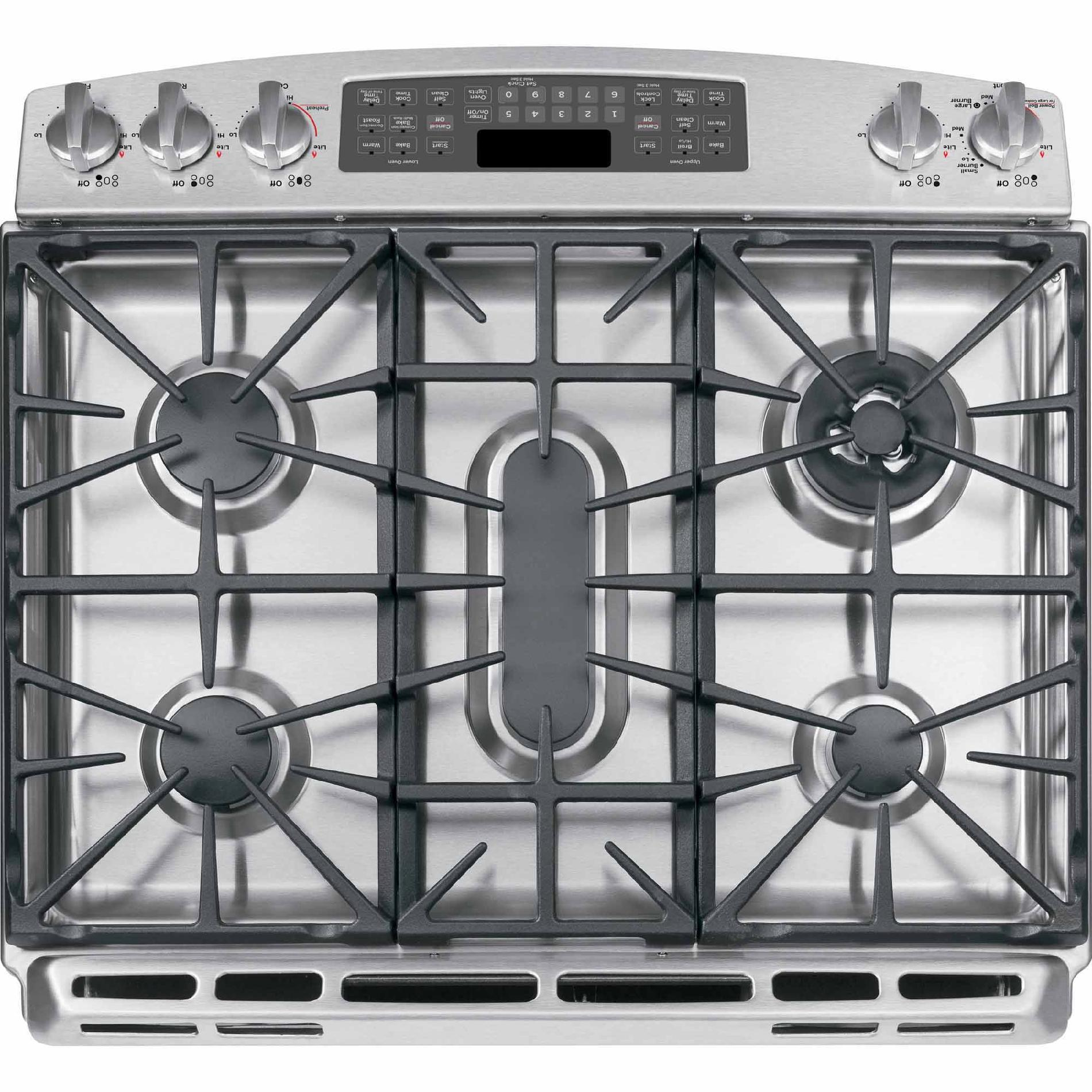 "GE Profile 30"" Slide-In Gas Range w/ Convection - Stainless Steel"