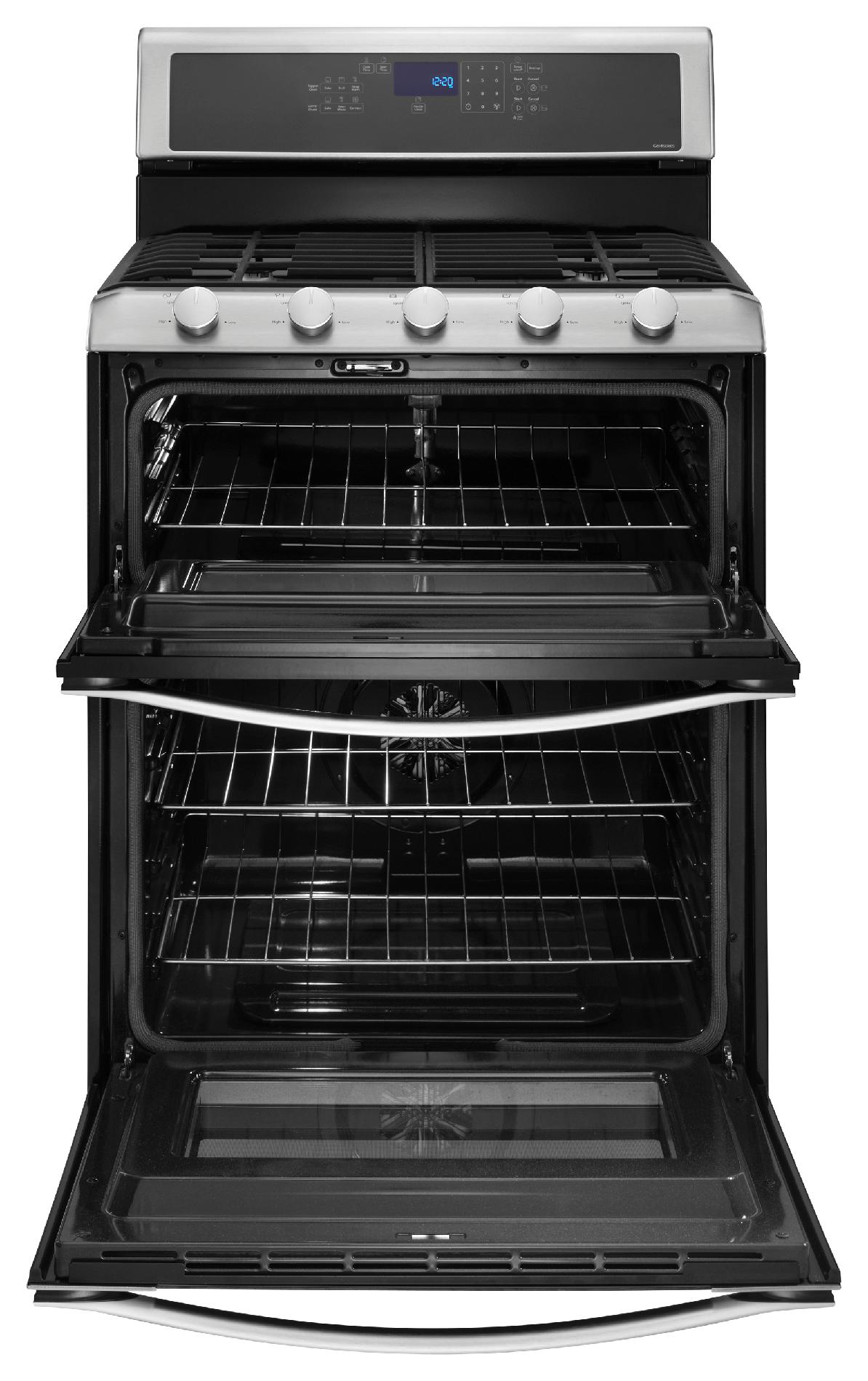 Whirlpool WGG755S0BS 3.9 cu. ft. Gas Range w/ TimeSavor™ Convection Cooking - Stainless Steel
