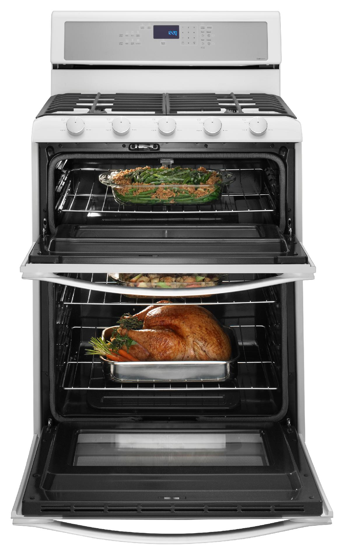 Whirlpool WGG755S0BH 3.9 cu. ft. Gas Range w/ TimeSavor™ Convection Cooking - White Ice