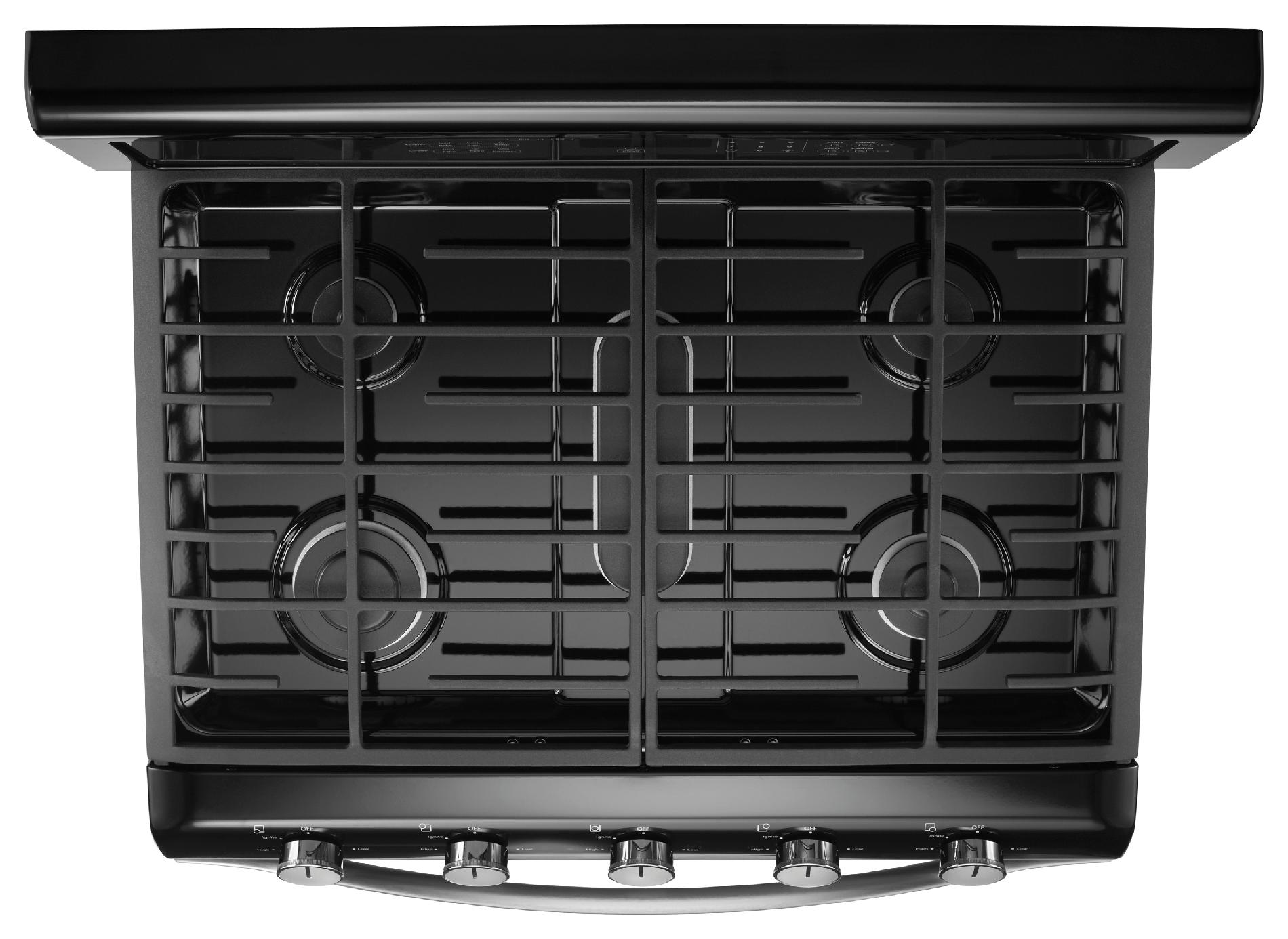 Whirlpool WGG755S0BE 3.9 cu. ft. Gas Range w/ TimeSavor™ Convection Cooking - Black Ice