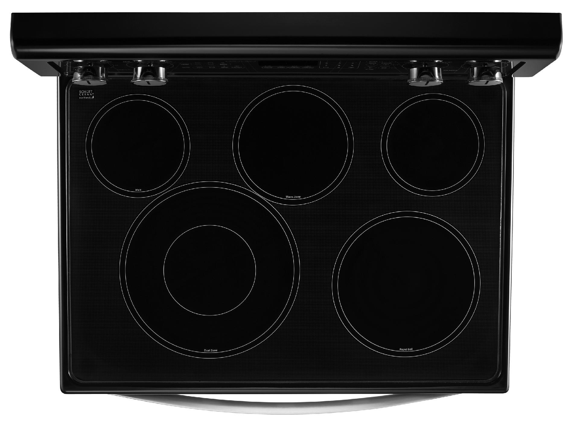 "Whirlpool WGE755C0BE 30"" Electric Range w/ AccuBake® System – Black Ice"