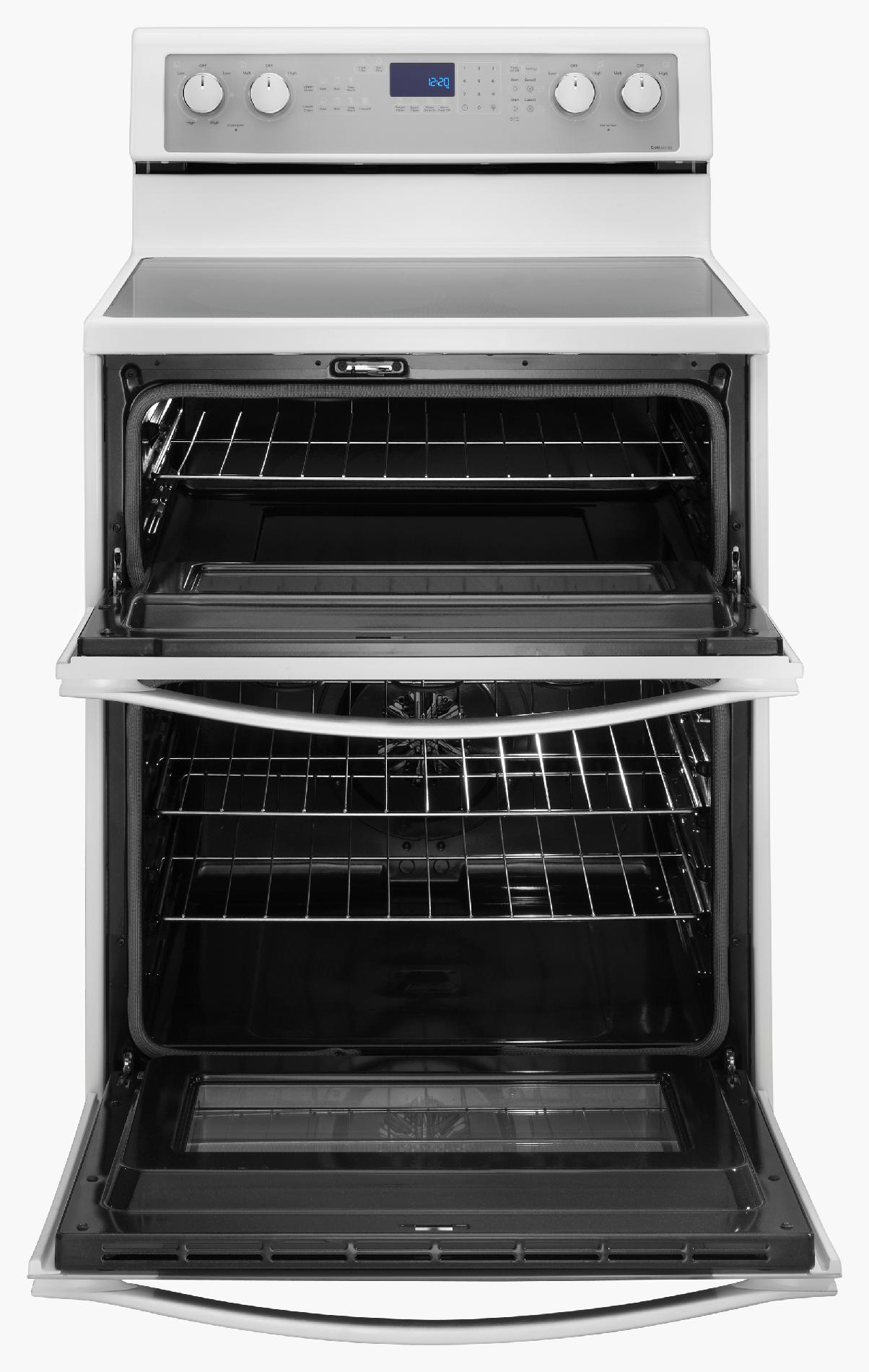 "Whirlpool WGE755C0BH 30"" Electric Range w/ AccuBake® System - White Ice"