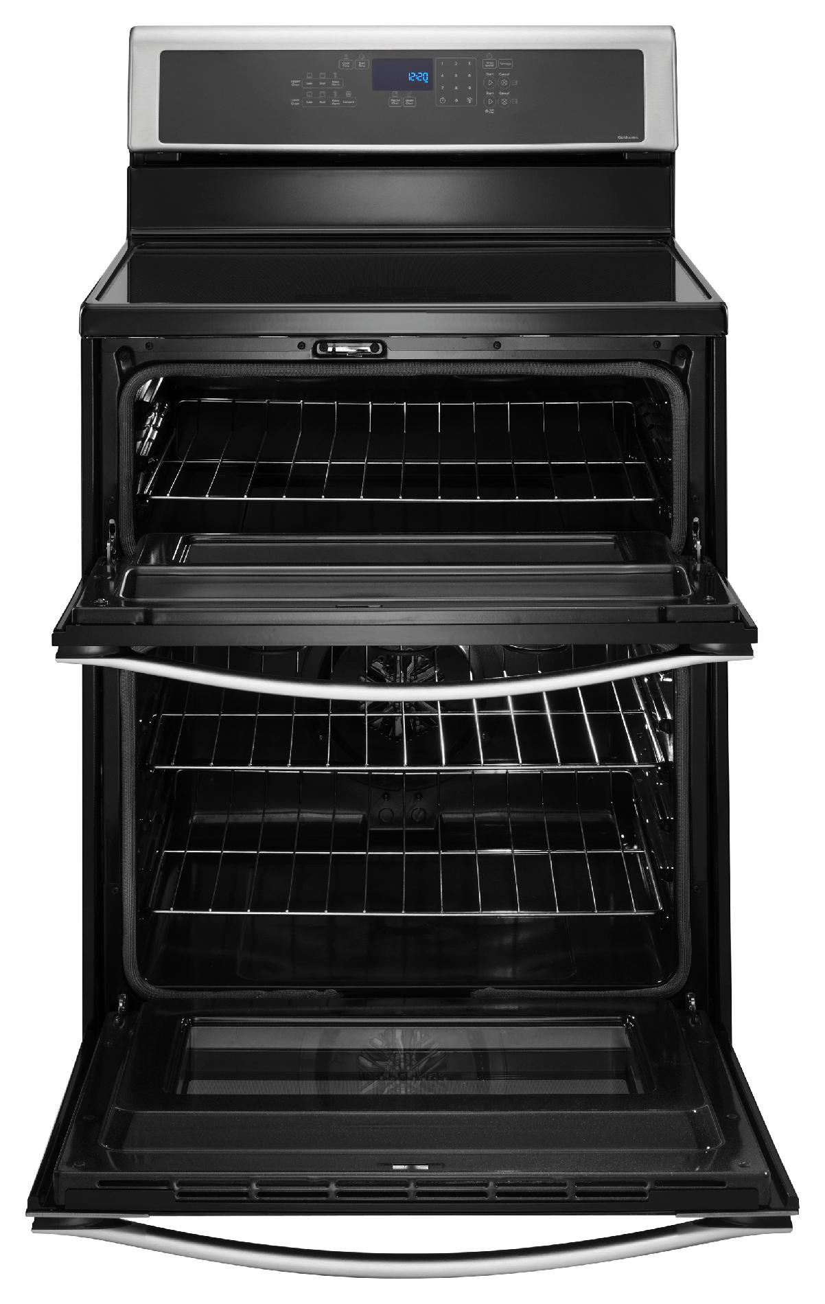 "Whirlpool 30"" Electric Range w/ Induction Cooktop, Double Oven - Stainless Steel"