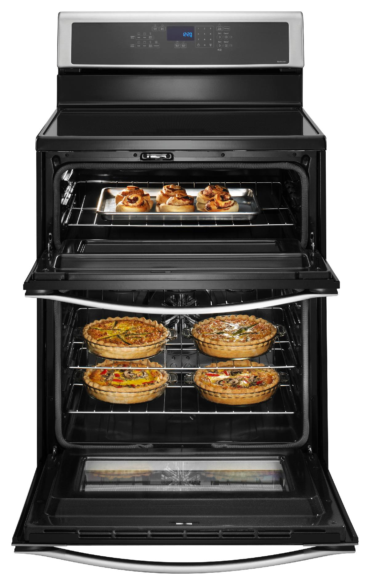 "Whirlpool WGI925C0BS 30"" Electric Range w/ Induction Cooktop, Double Oven - Stainless Steel"