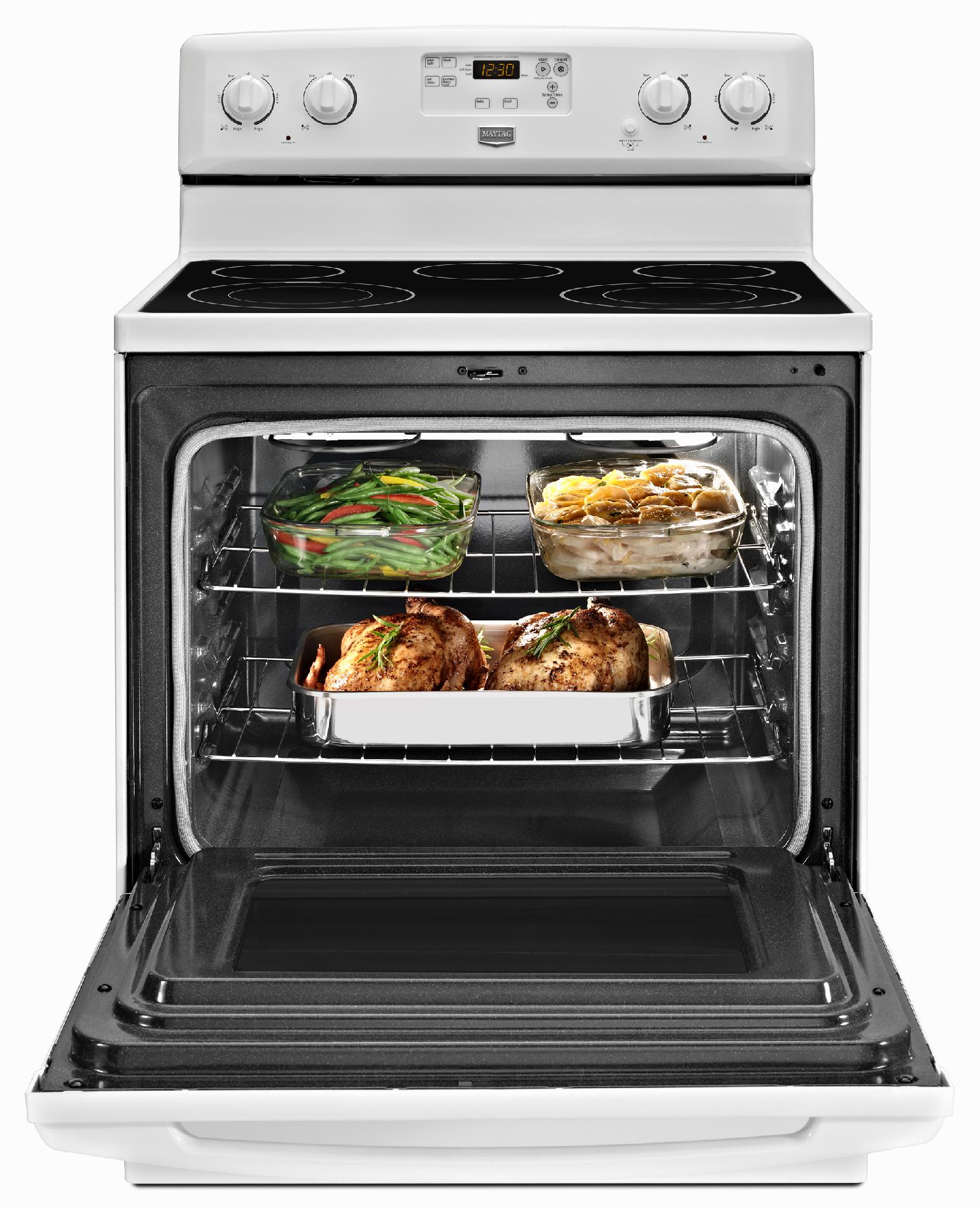 Maytag 5.3 cu. ft. Electric Range w/ 2 Dual-Choice™ Elements - White