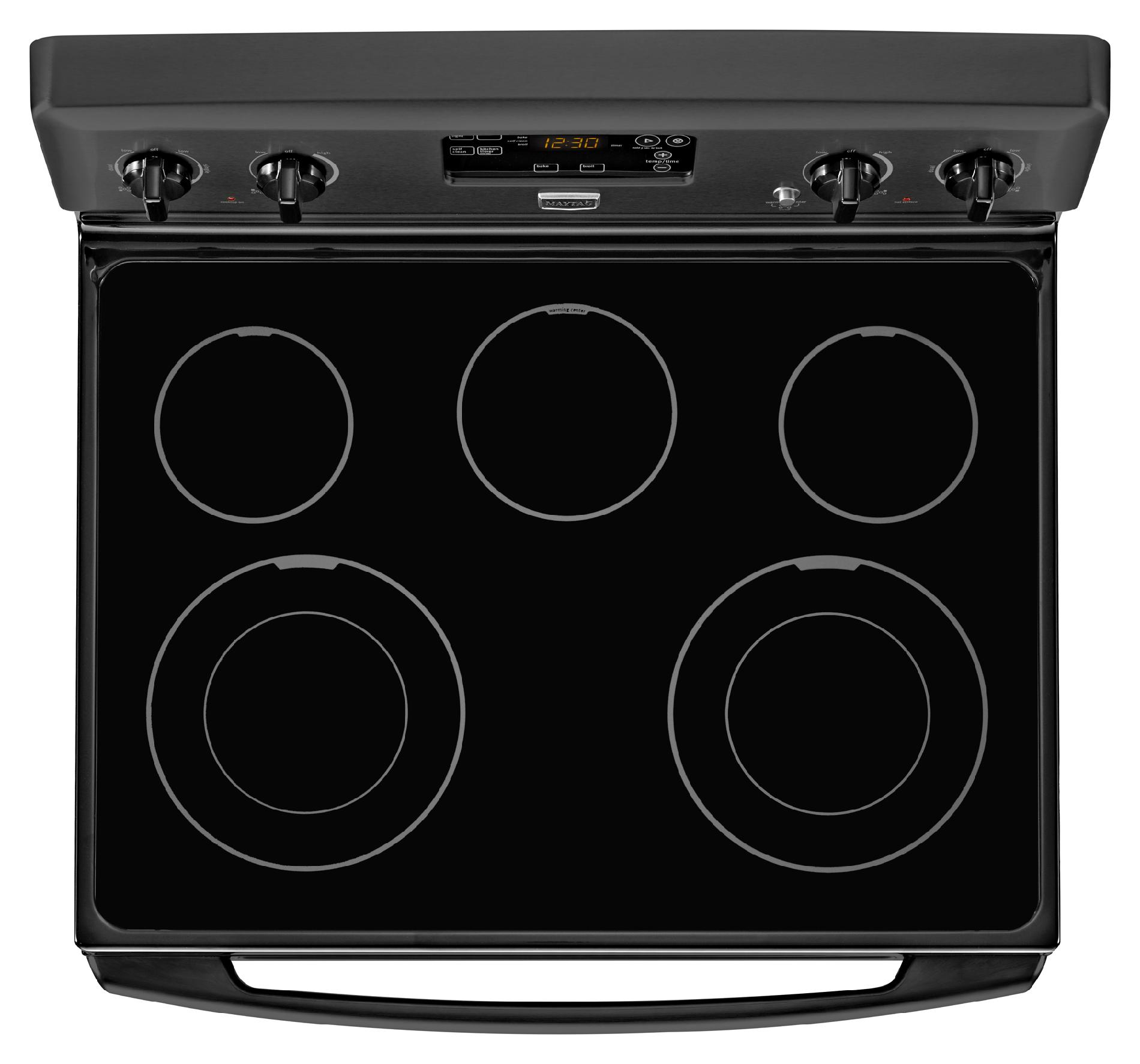 Maytag 5.3 cu. ft. Electric Range w/ 2 Dual-Choice™ Elements - Black