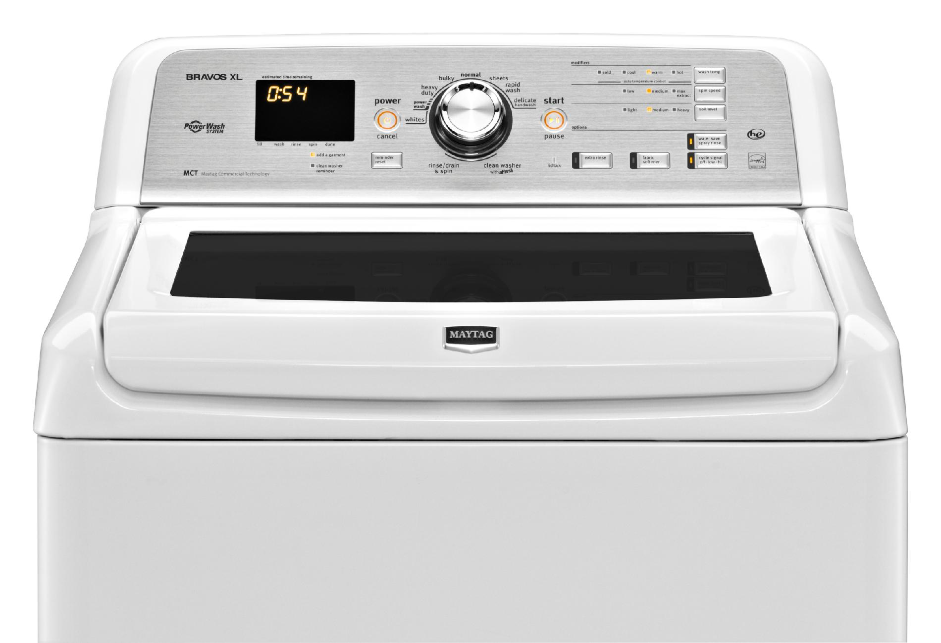 Maytag MVWB725BW 4.5 cu. ft. Bravos XL® High-Efficiency Top-Load Washer - White