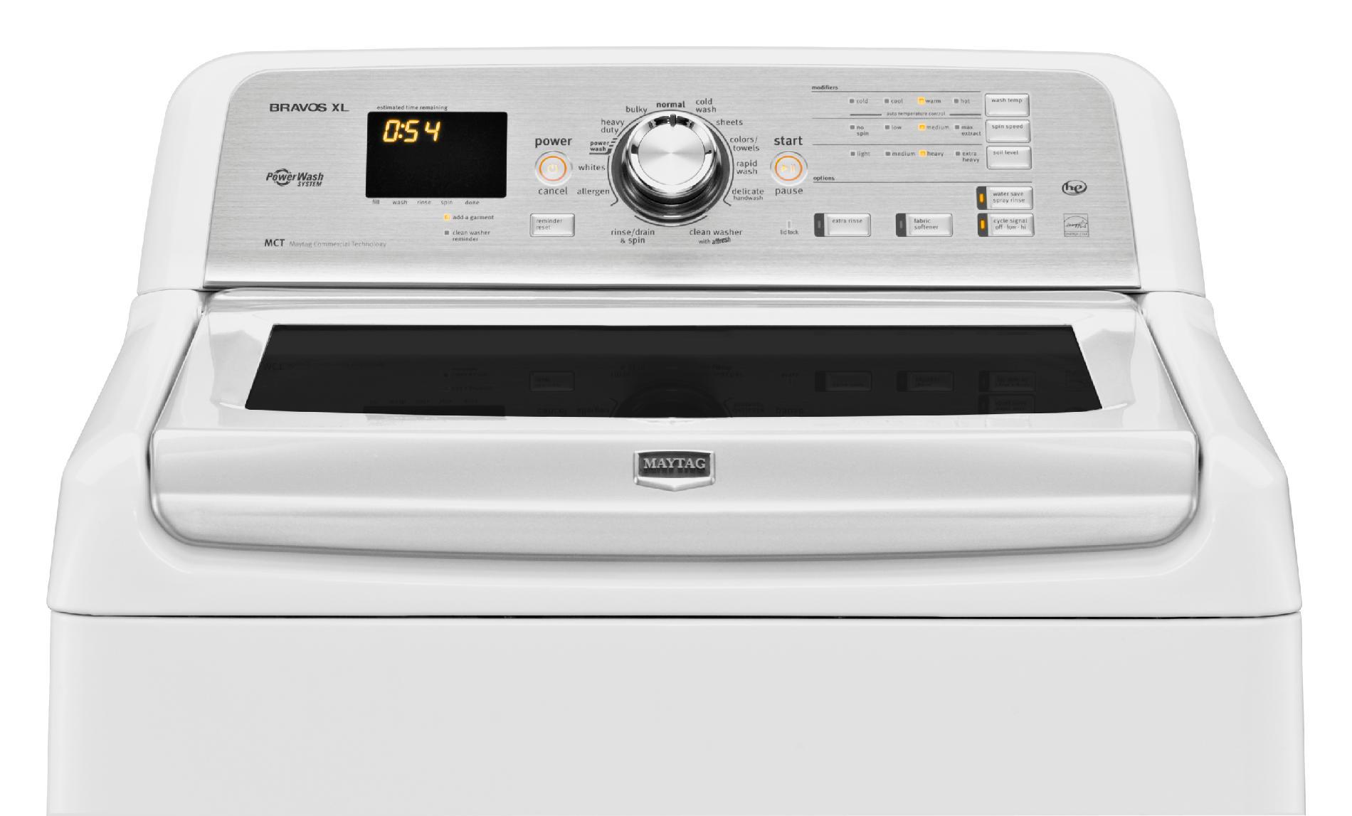 Maytag MVWB880BW 4.8 cu. ft. Bravos XL® High-Efficiency Top-Load Washer - White