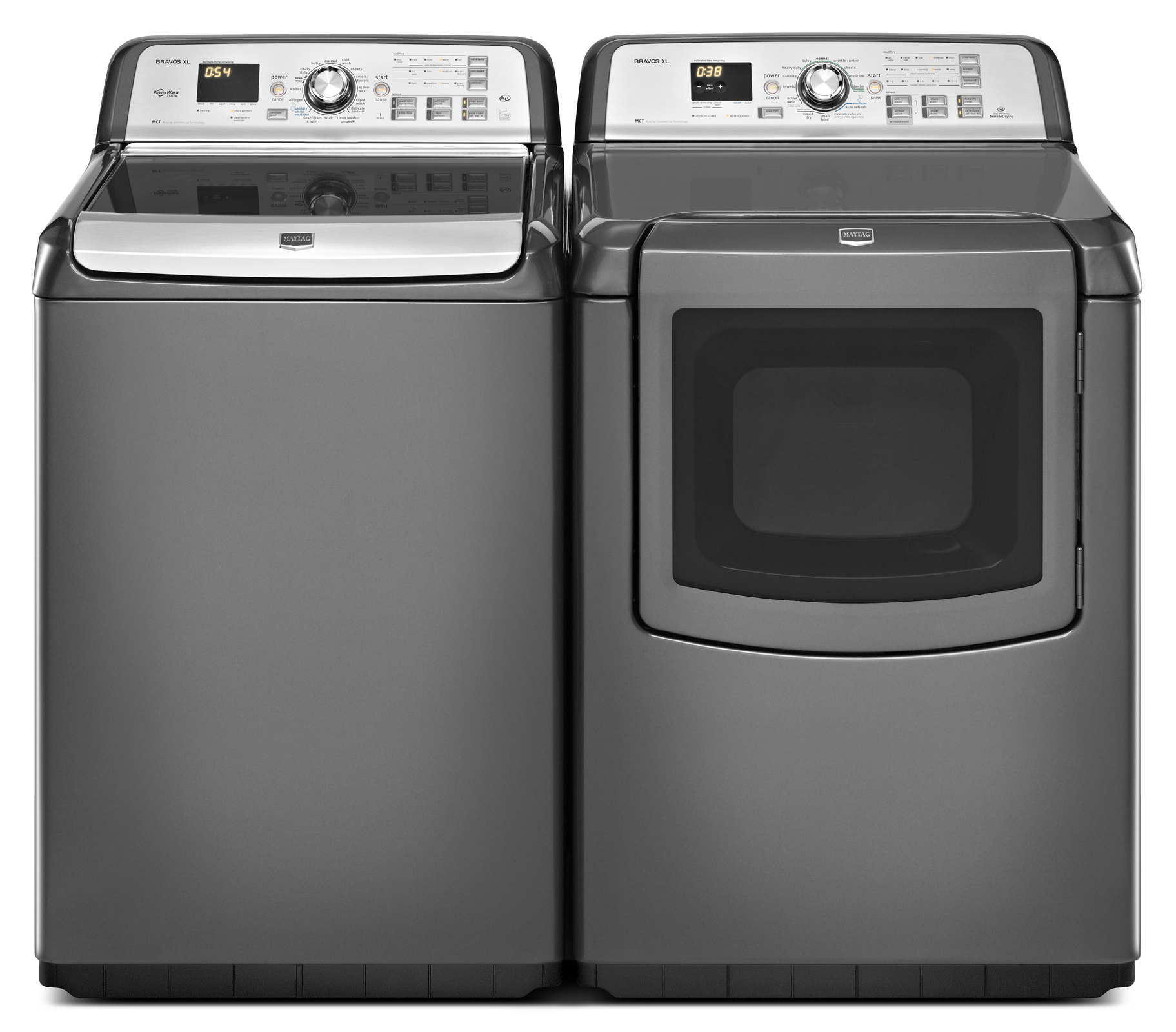 Maytag 4.8 cu. ft. Bravos XL® HE Top-Load Washer w/ Oxi & Steam - Granite