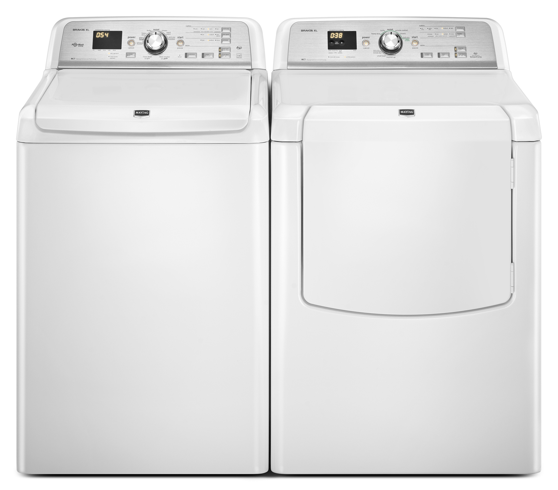 Maytag 7.3 cu. ft. Bravos XL® Electric Dryer w/ Advanced Moisture Sensing - White