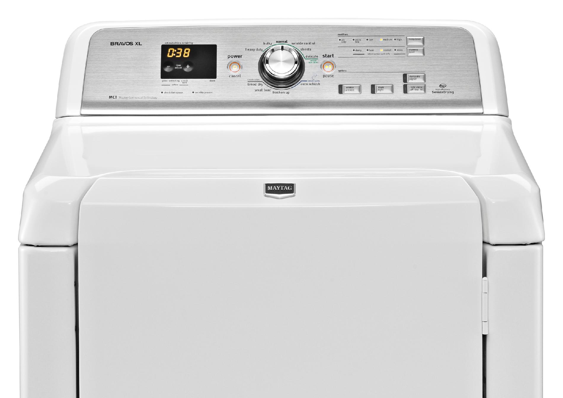 Maytag MEDB725BW 7.3 cu. ft. Bravos XL® Electric Dryer w/ Steam Refresh Cycle - White