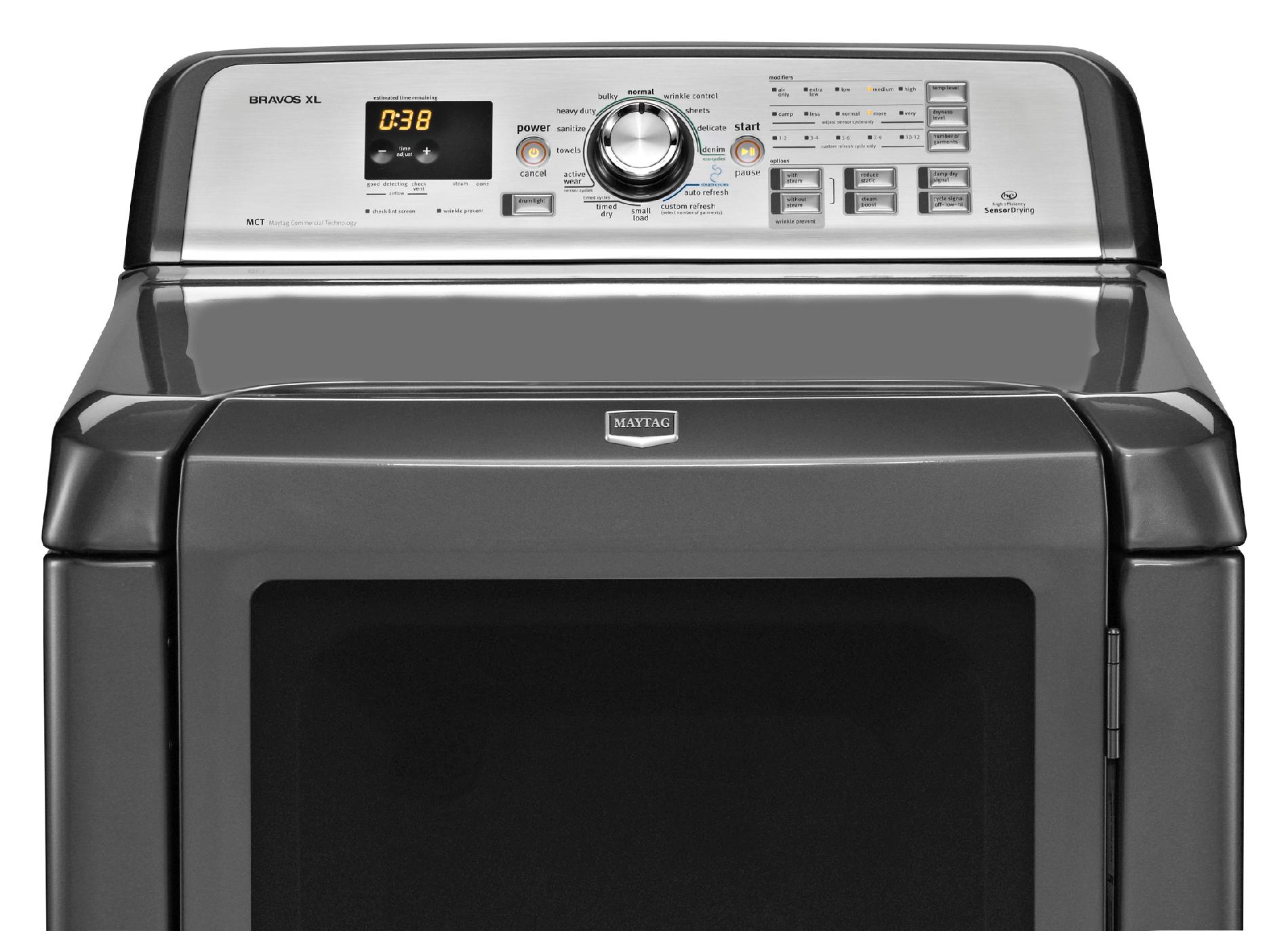 Maytag 7.3 cu. ft. Bravos XL® Electric Dryer w/ Custom Refresh Cycles - Granite