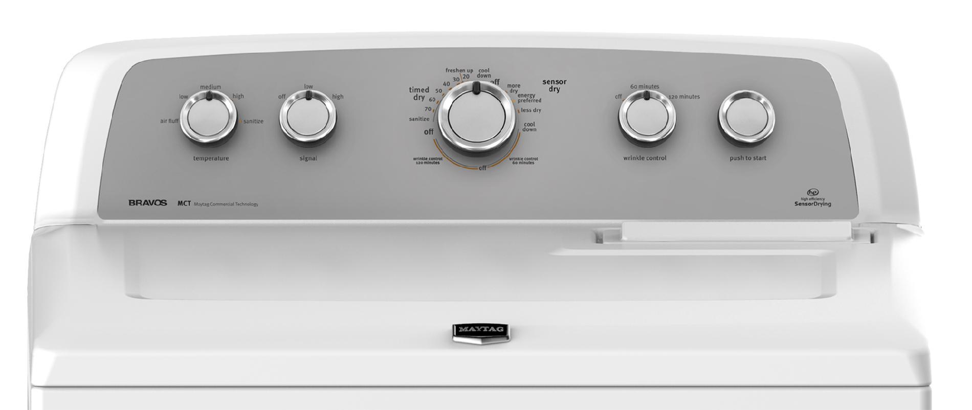Maytag 7.0 cu. ft. Bravos X™ Electric Dryer - White