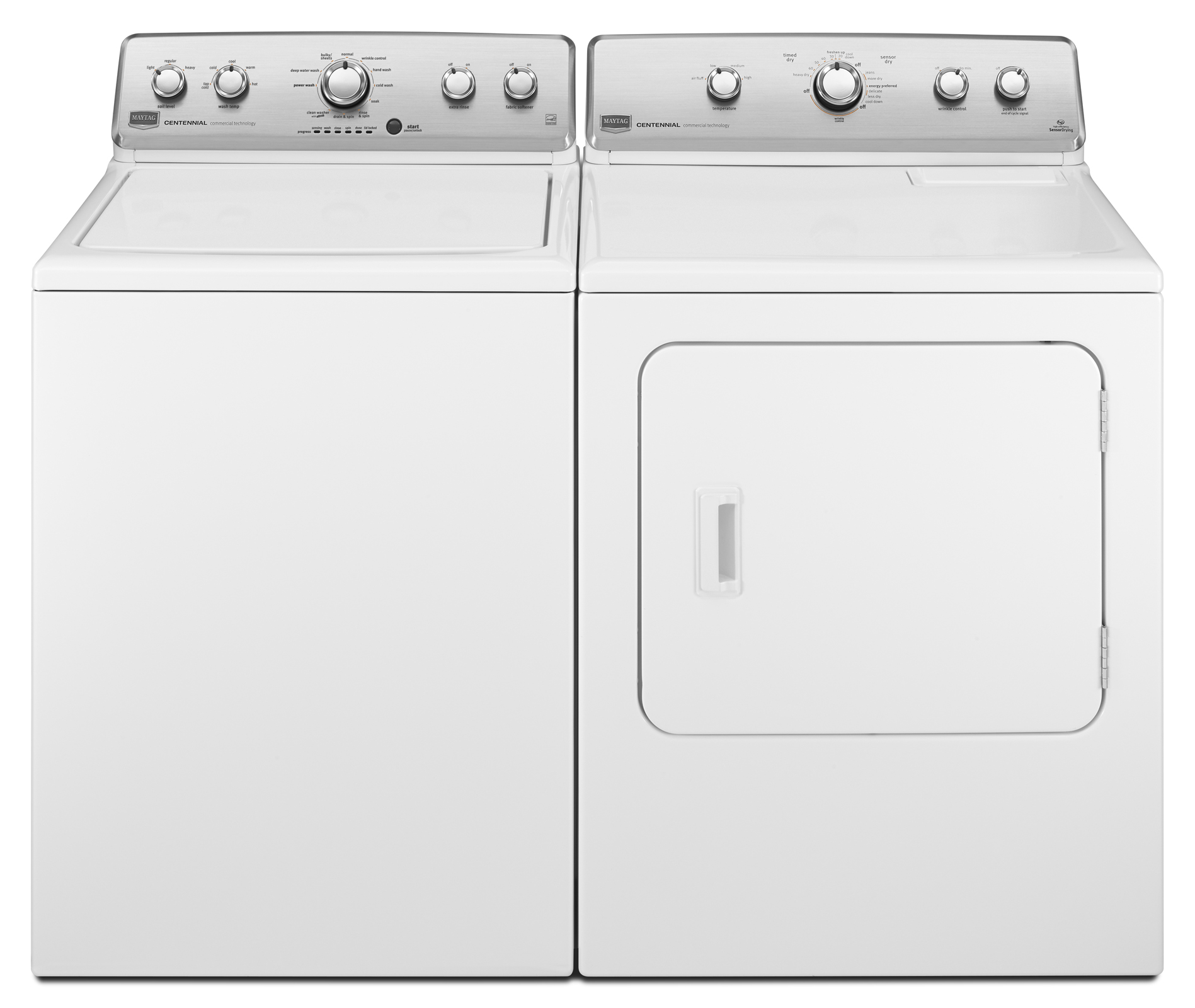 Maytag 3.8 cu. ft. Centennial® HE Top-Load Washer w/ Cold Wash Cycle - White